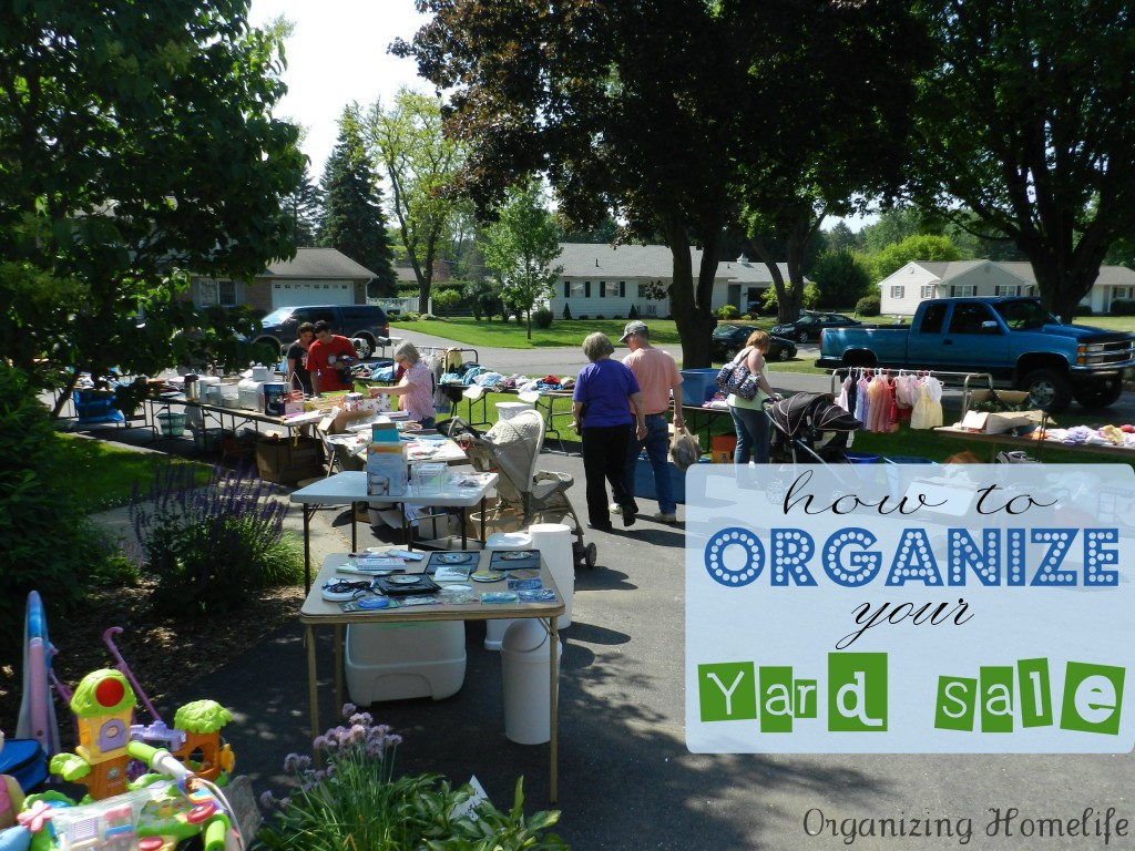 how to have a {very} successful yard sale ~ organizing your sale