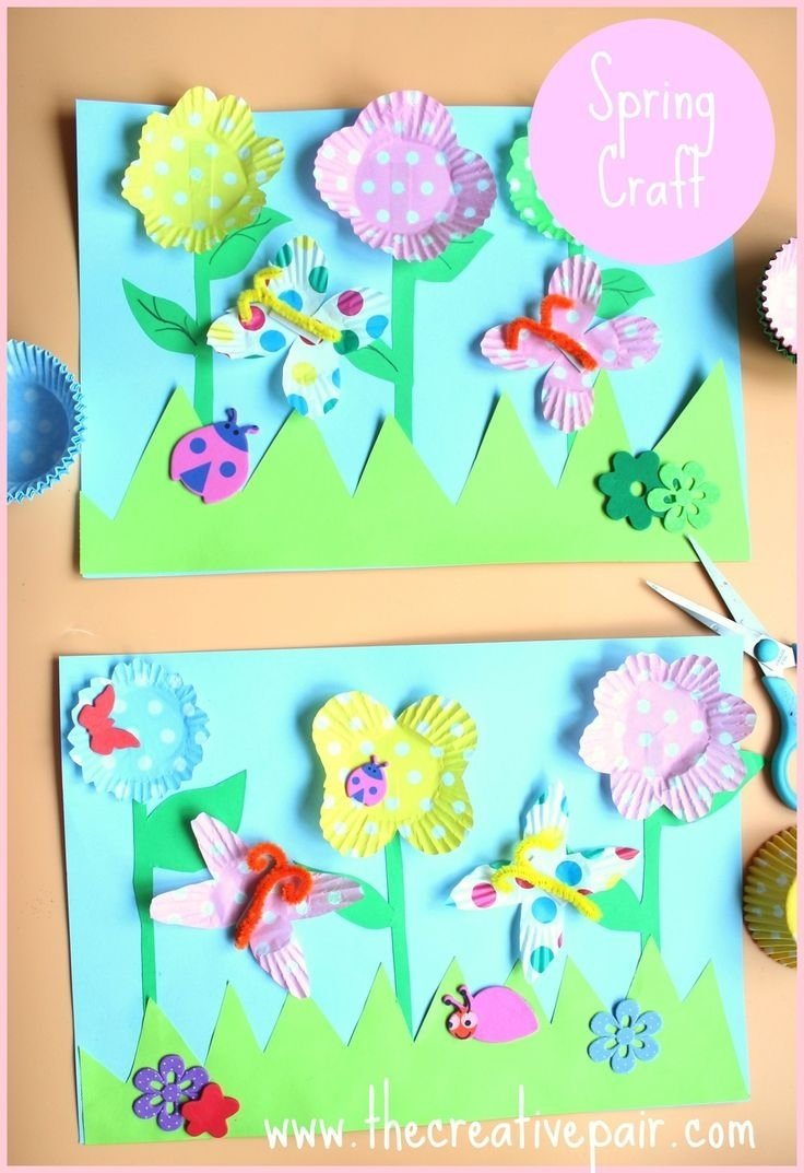 how to make a 3d spring picture - spring crafts | spring, craft and 3d