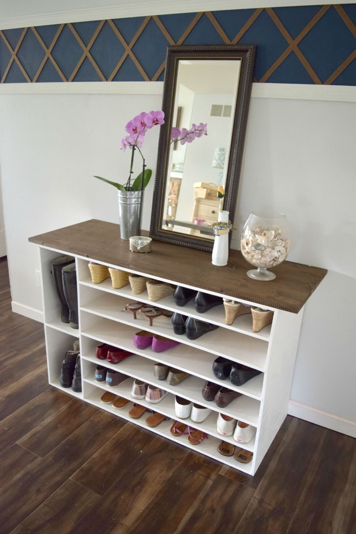 10 Spectacular Shoe Storage Ideas For Entryway how to make a diy shoe organizer and rack for the closet this is 2021