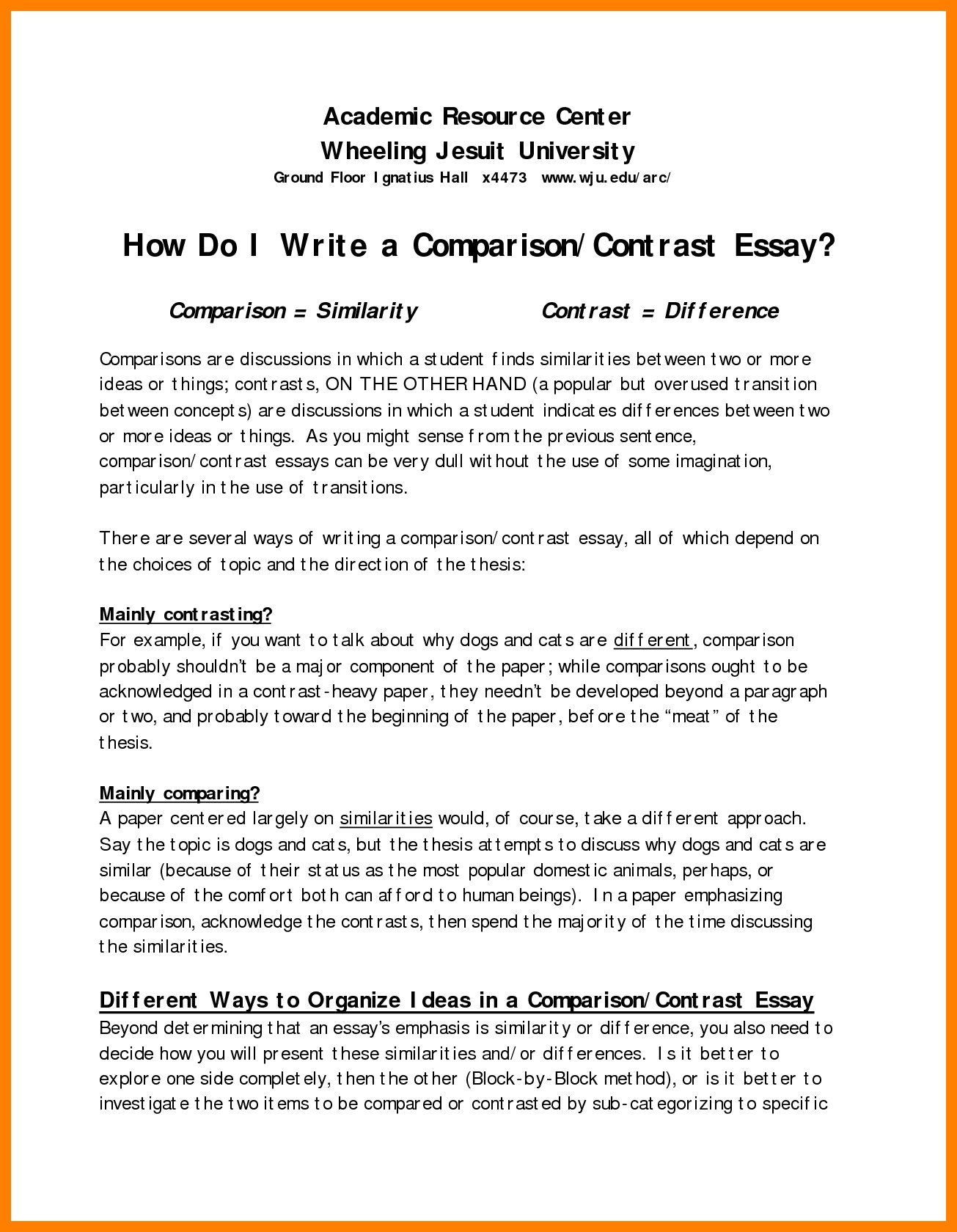 10 Amazing Ideas For Compare And Contrast Essays how to make a good comparison essay term paper service 2020