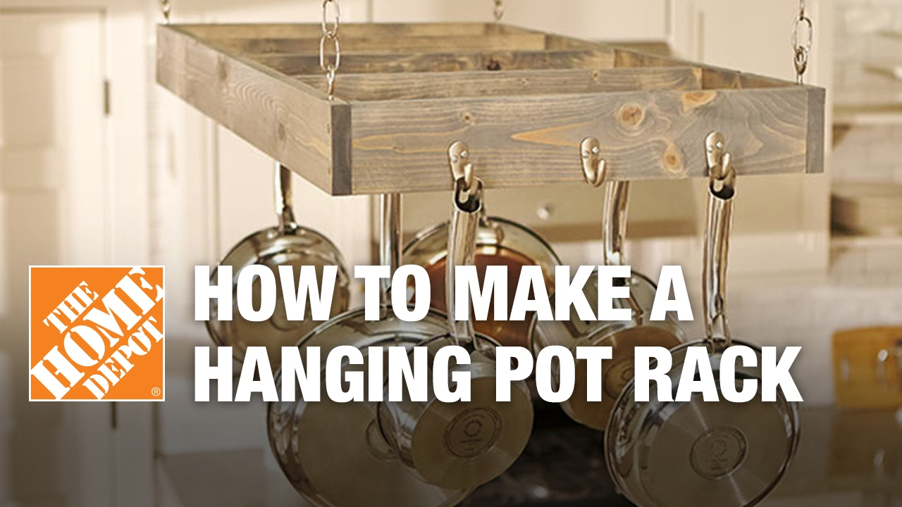 10 Spectacular Wall Mount Pot Rack Ideas how to make a hanging pot rack youtube