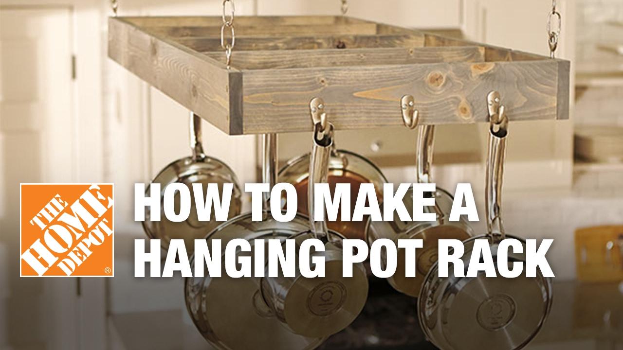 10 Spectacular Wall Mount Pot Rack Ideas how to make a hanging pot rack youtube 2020