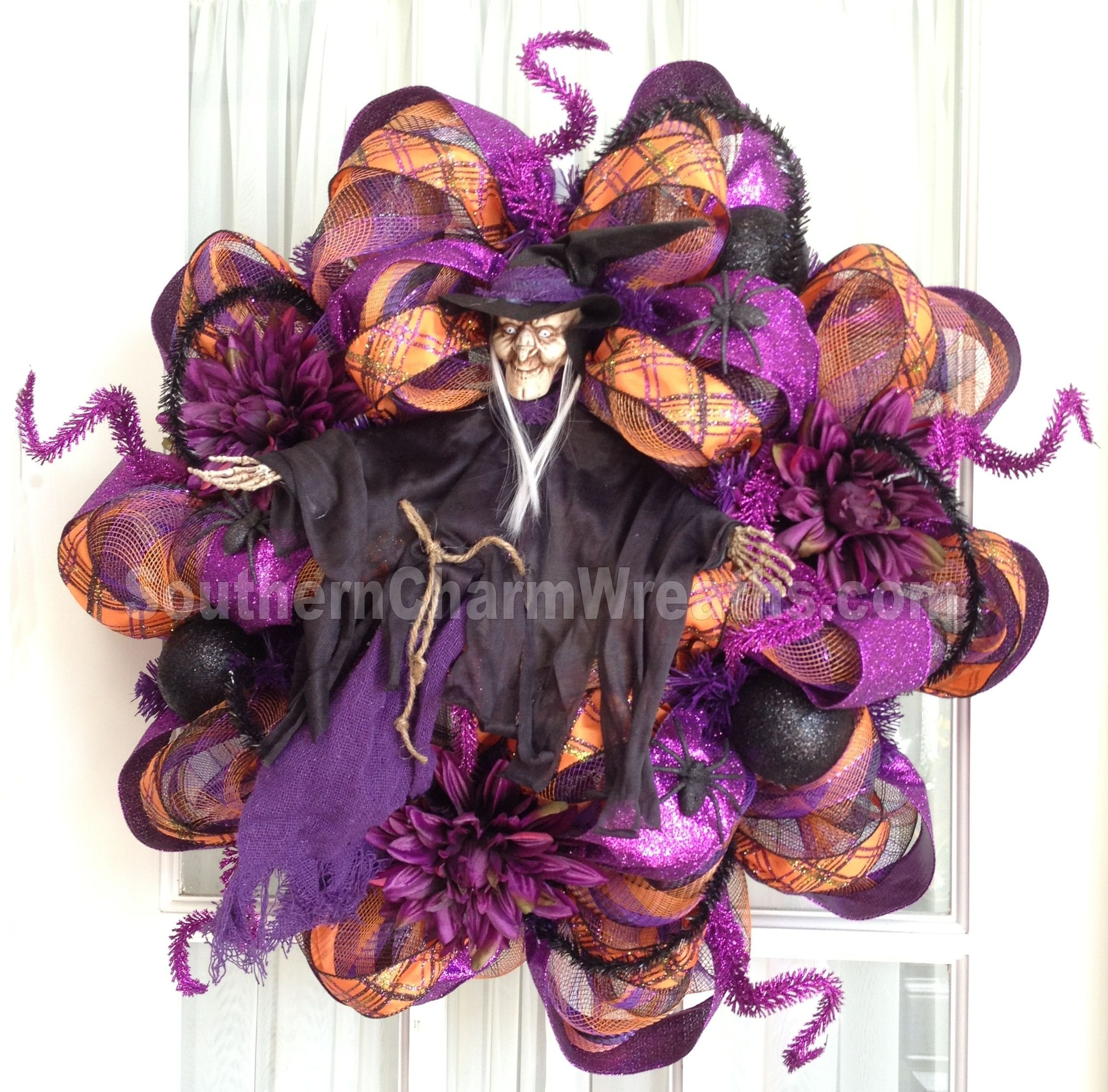 10 Most Recommended Deco Mesh Halloween Wreath Ideas how to make an autism awareness wreath wreaths halloween deco 2021