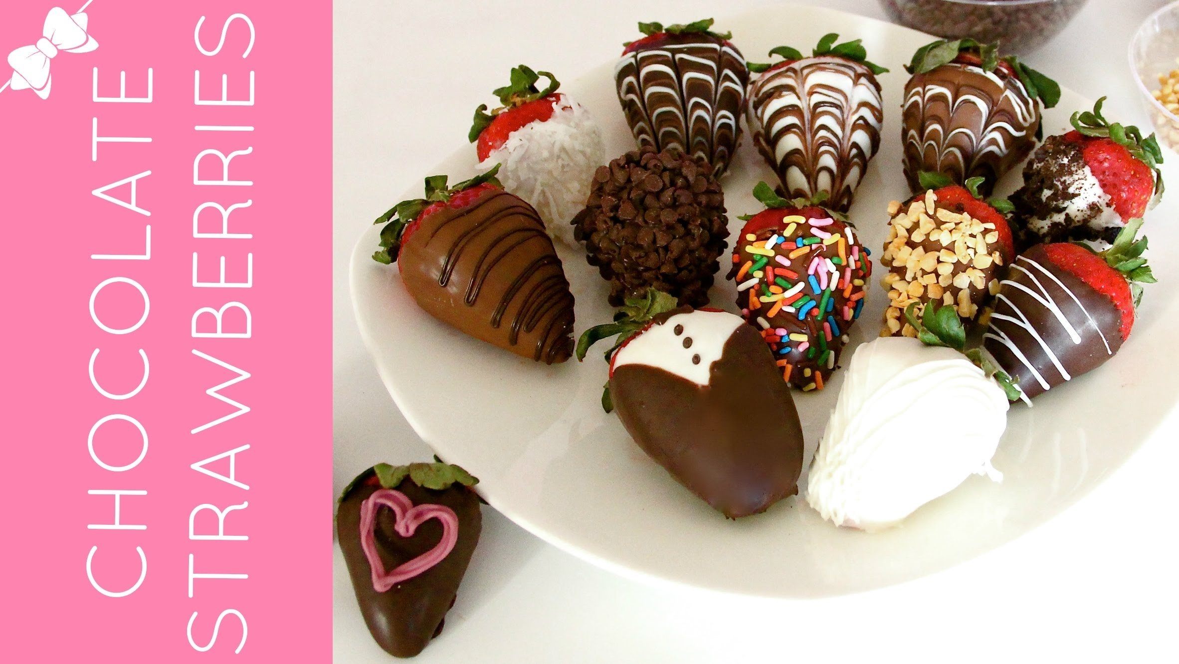 how to make beautiful, gourmet chocolate covered strawberries