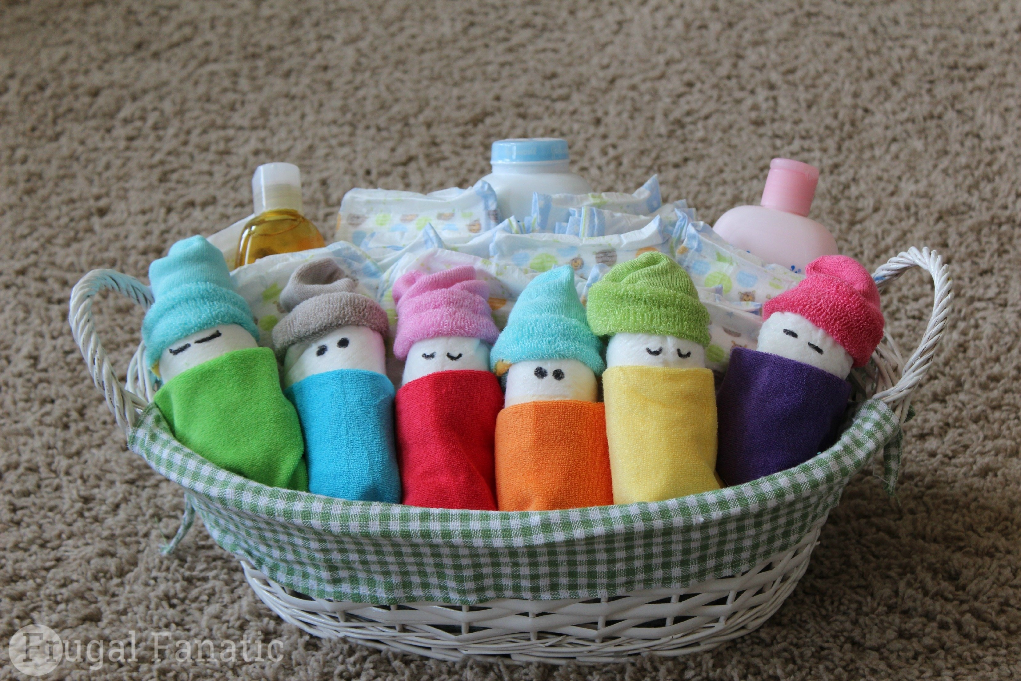 how to make diaper babies - easy baby shower gift idea - frugal fanatic