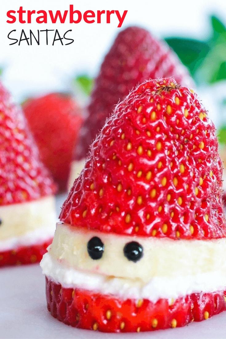 10 Unique Christmas Dessert Ideas For Kids how to make healthy strawberry santas strawberry santas food 2020