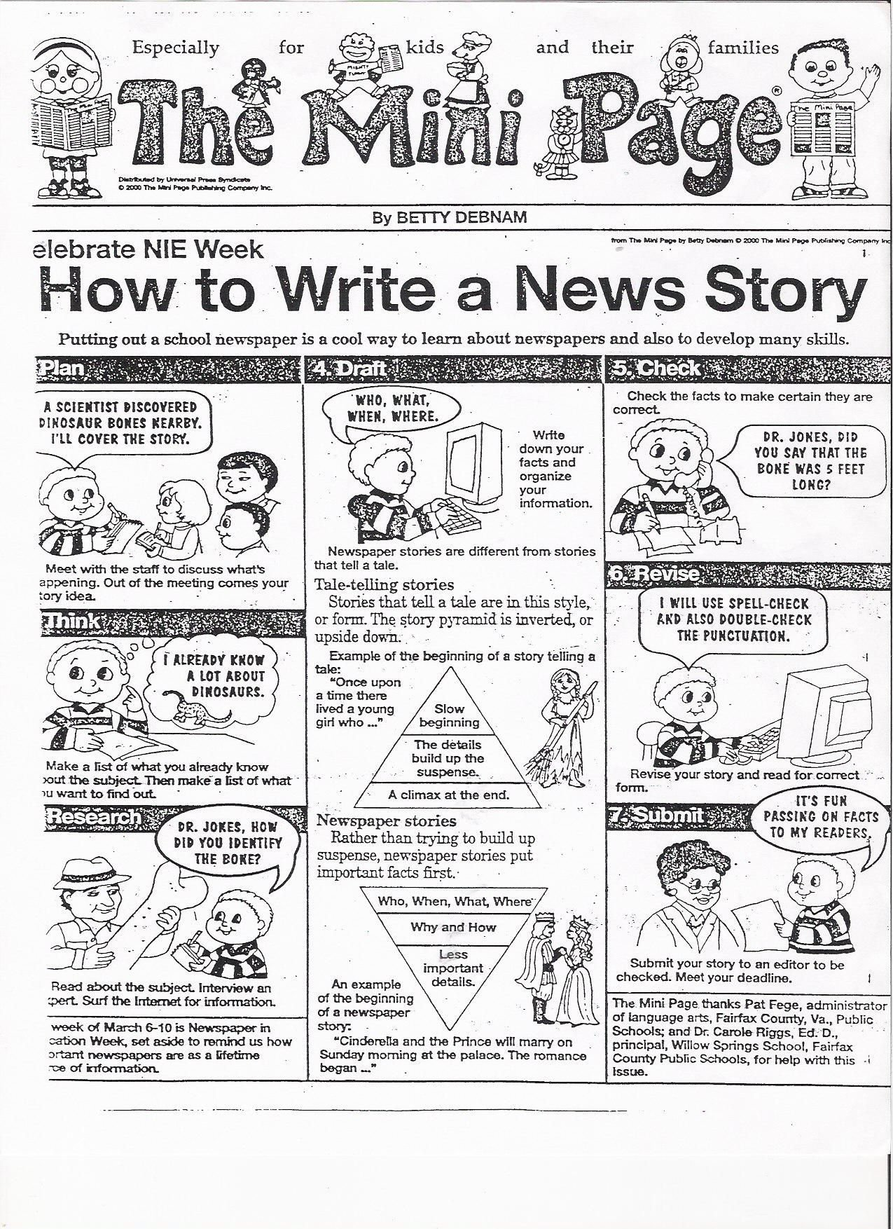 10 Attractive Middle School Newspaper Article Ideas how to make money writing articles newspaper cartoon and programming 2020