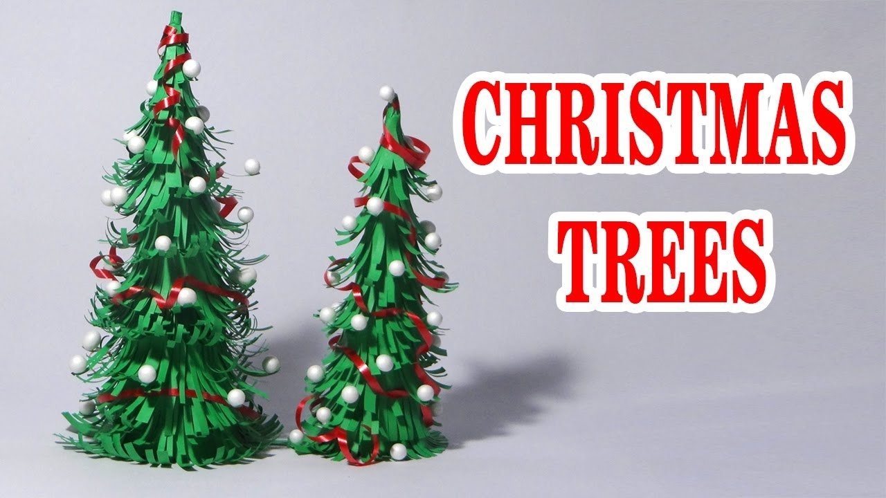 10 Fabulous Christmas Crafts Ideas For Adults how to make paper christmas tree making of paper christmas tree 1