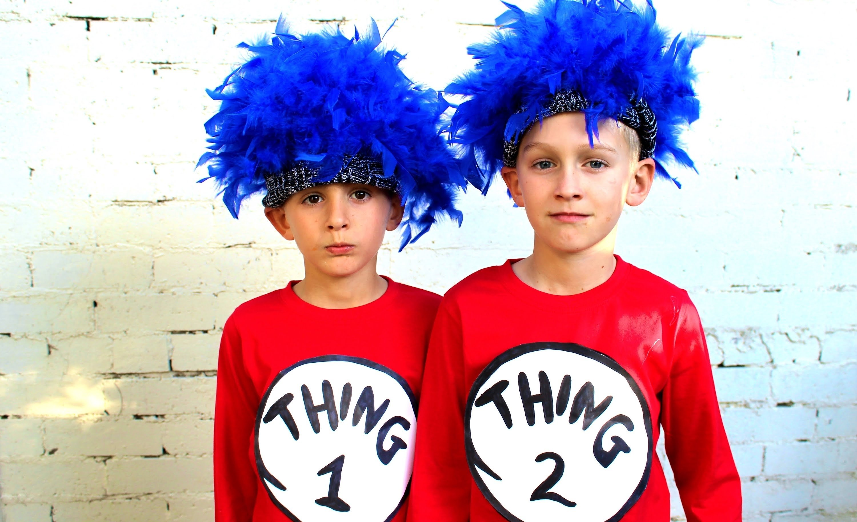 10 Unique Thing 1 And Thing 2 Costume Ideas how to make thing 1 and thing 2 dress ups youtube 2021