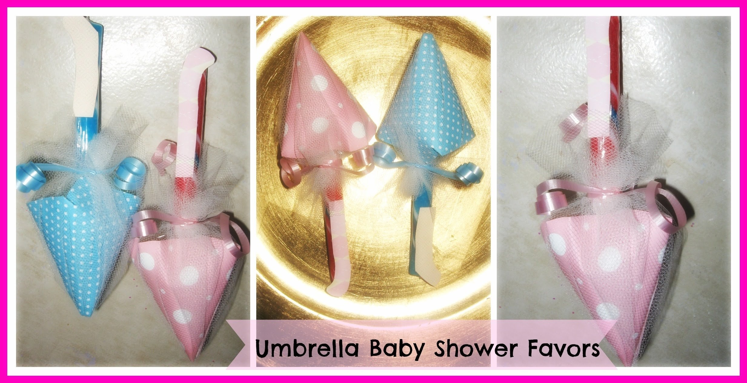10 Lovable Baby Shower Favors Ideas To Make how to make umbrella baby shower favors tutorial diy candy umbrella 2020