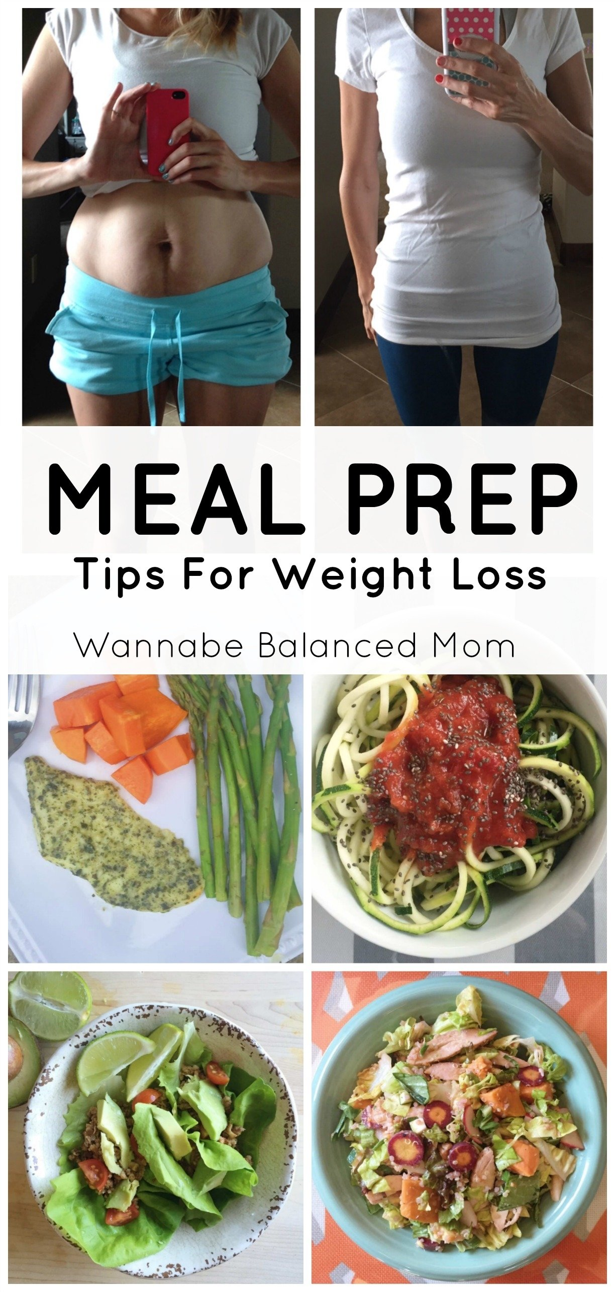how to meal prep for weight loss | 7 meal ideas - wannabe balanced mom