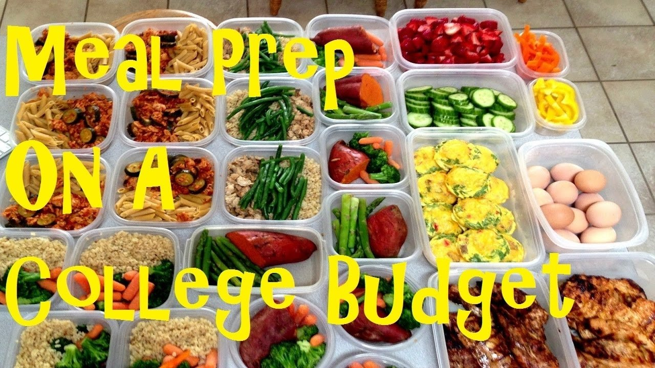 10 Cute Meal Ideas On A Budget how to meal prep on a college budget youtube 2020