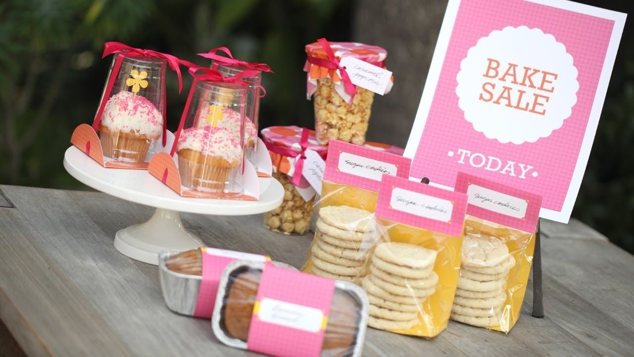 10 Wonderful Bake Sale Ideas For Kids how to package food for a bake sale youtube