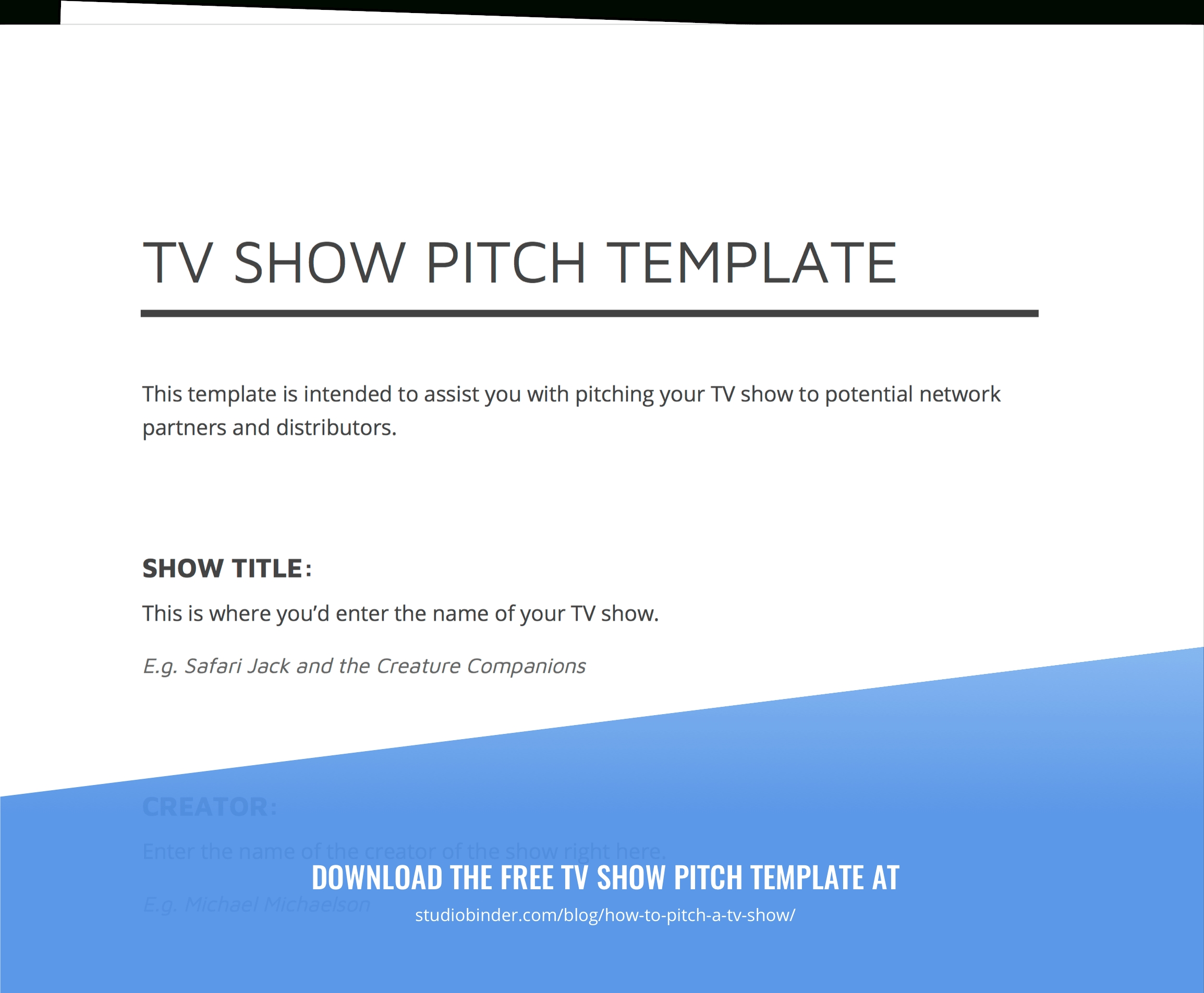 10 Great How To Pitch A Tv Show Idea To A Network how to pitch a tv show and develop tv show ideas with template