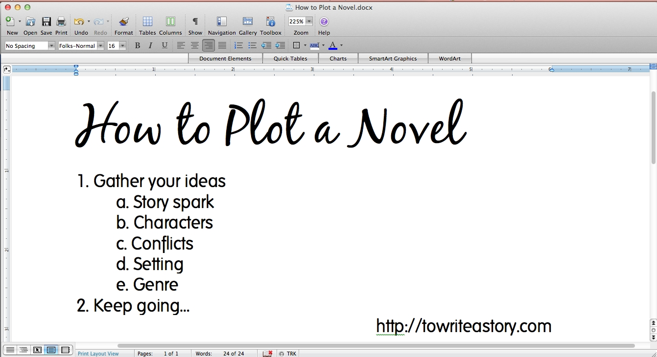 how to plot a novel -