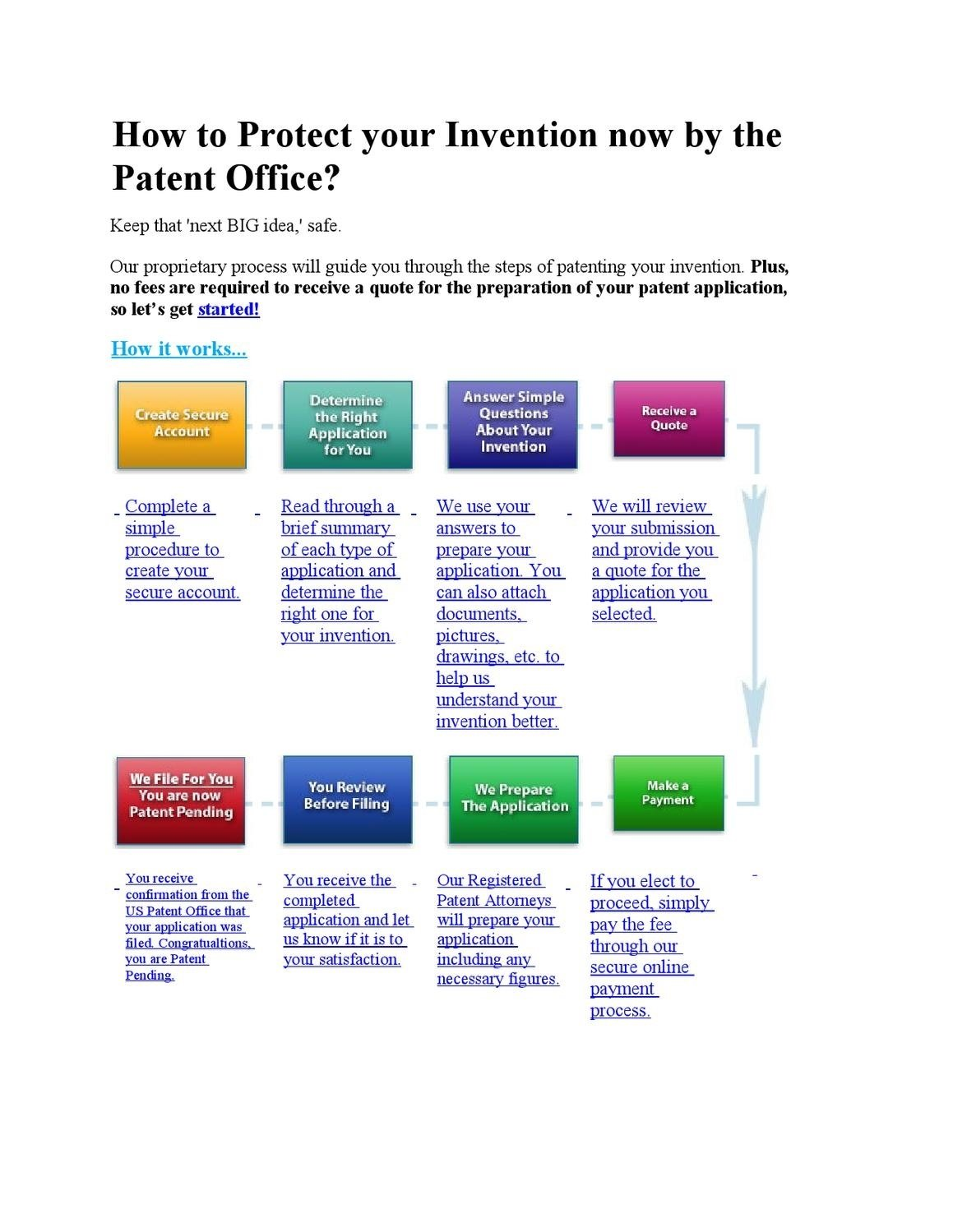 10 Awesome How To Patent A Website Idea how to protect your invention nowthe patent officetom