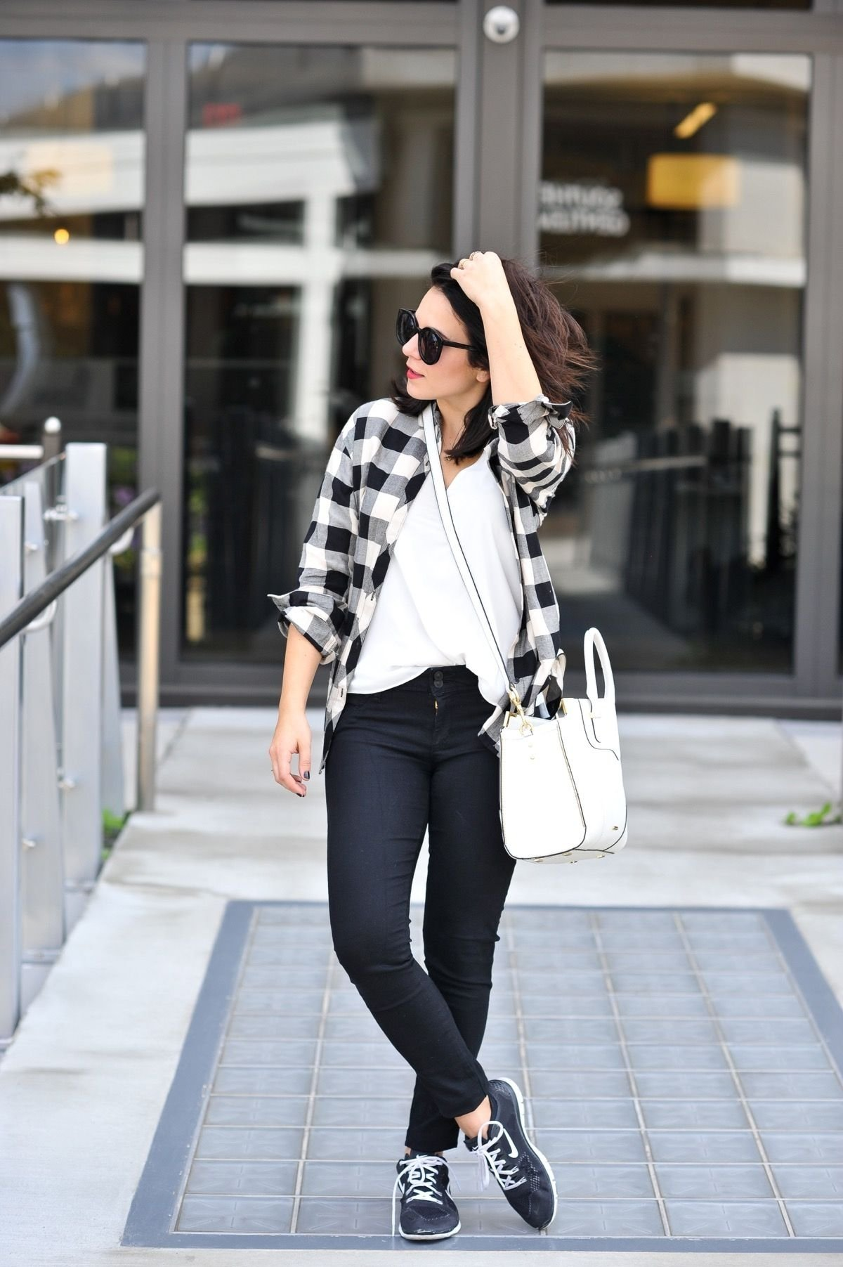 10 Unique Black And White Outfit Ideas how to style sneakers like a fashion blogger plaid fall outfits 2021