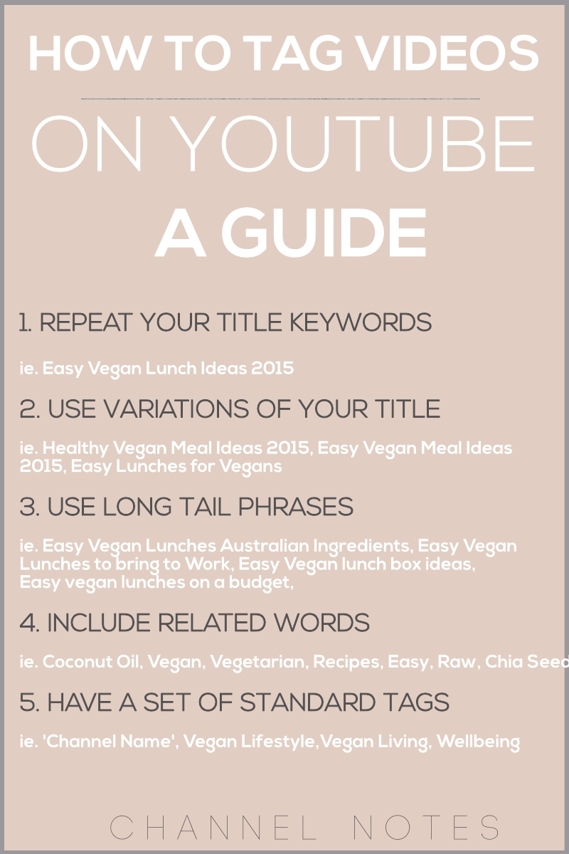 10 Unique Good Ideas For Youtube Videos how to tag on youtube like a pro channel notes 2 2020