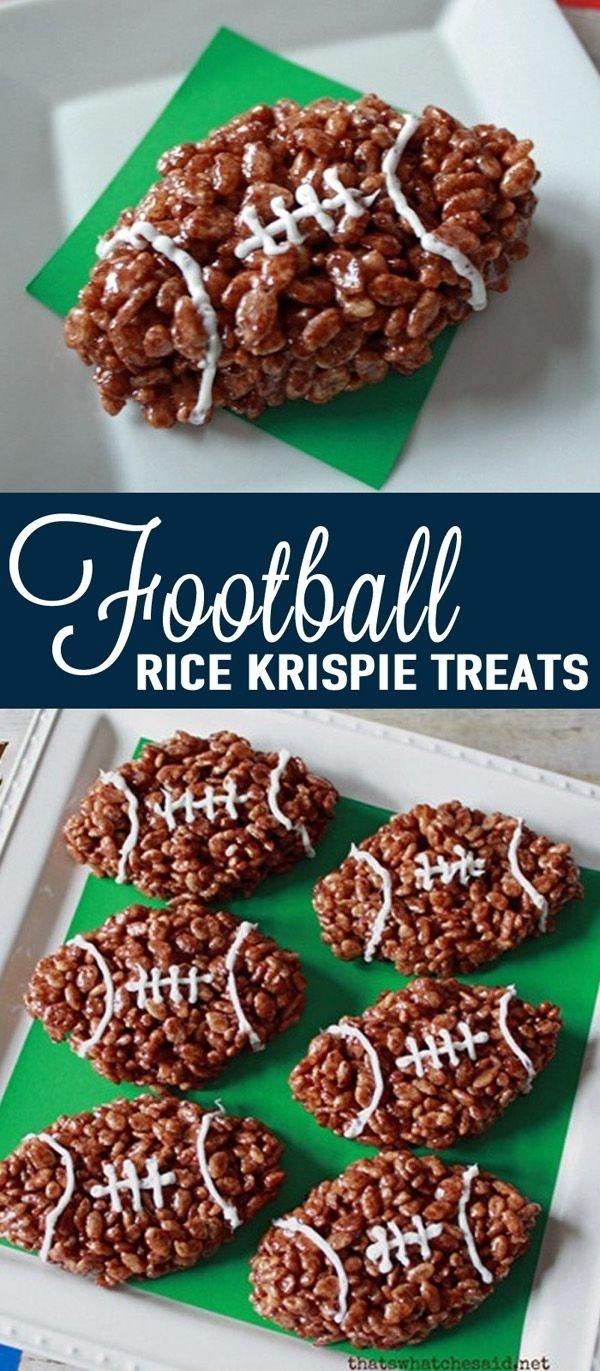 10 Stylish Football Party Ideas For Kids how to throw a kid friendly super bowl party rice krispie treats 2021