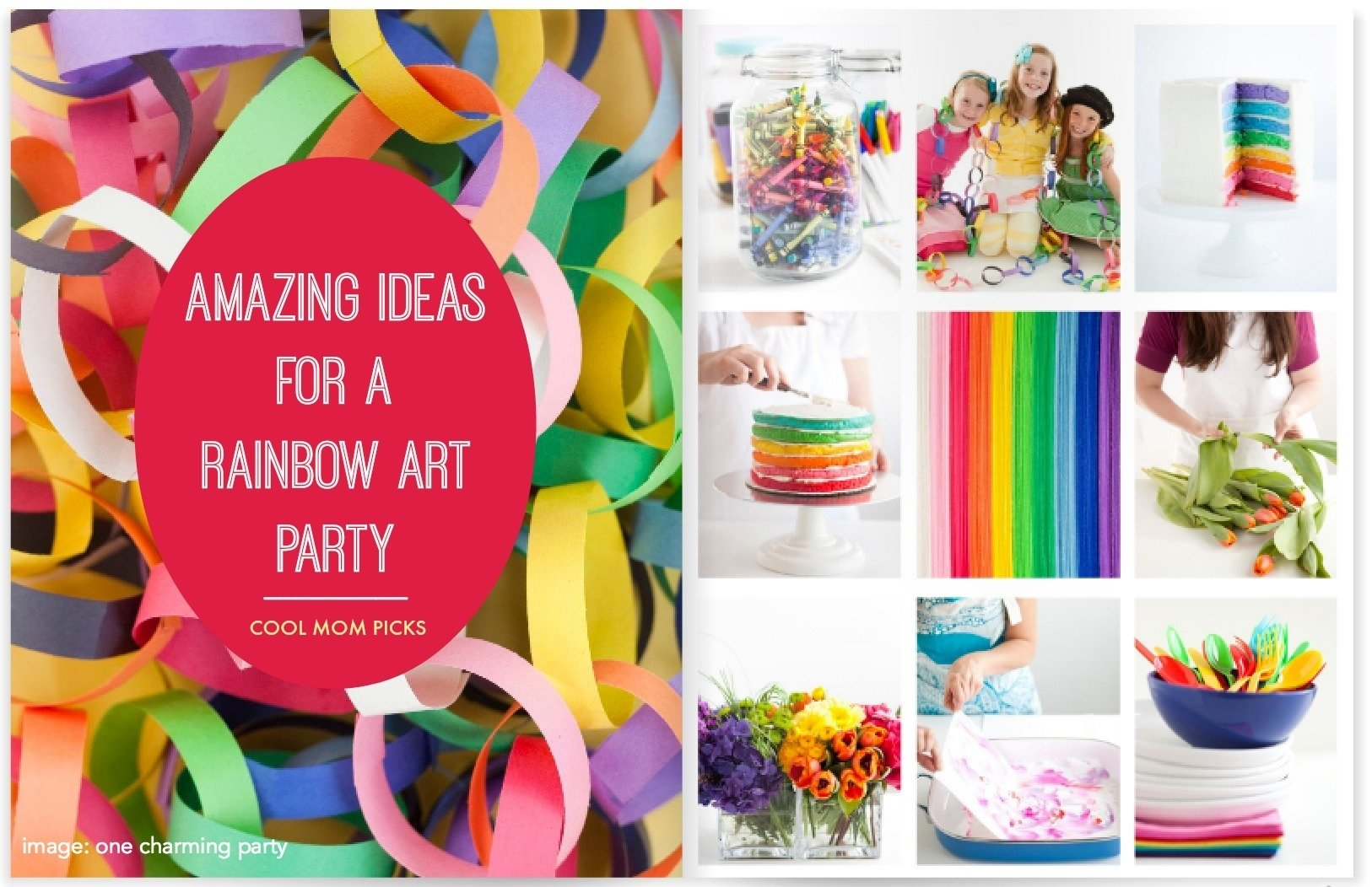 how to throw a rainbow art party: ideas with a creative twist