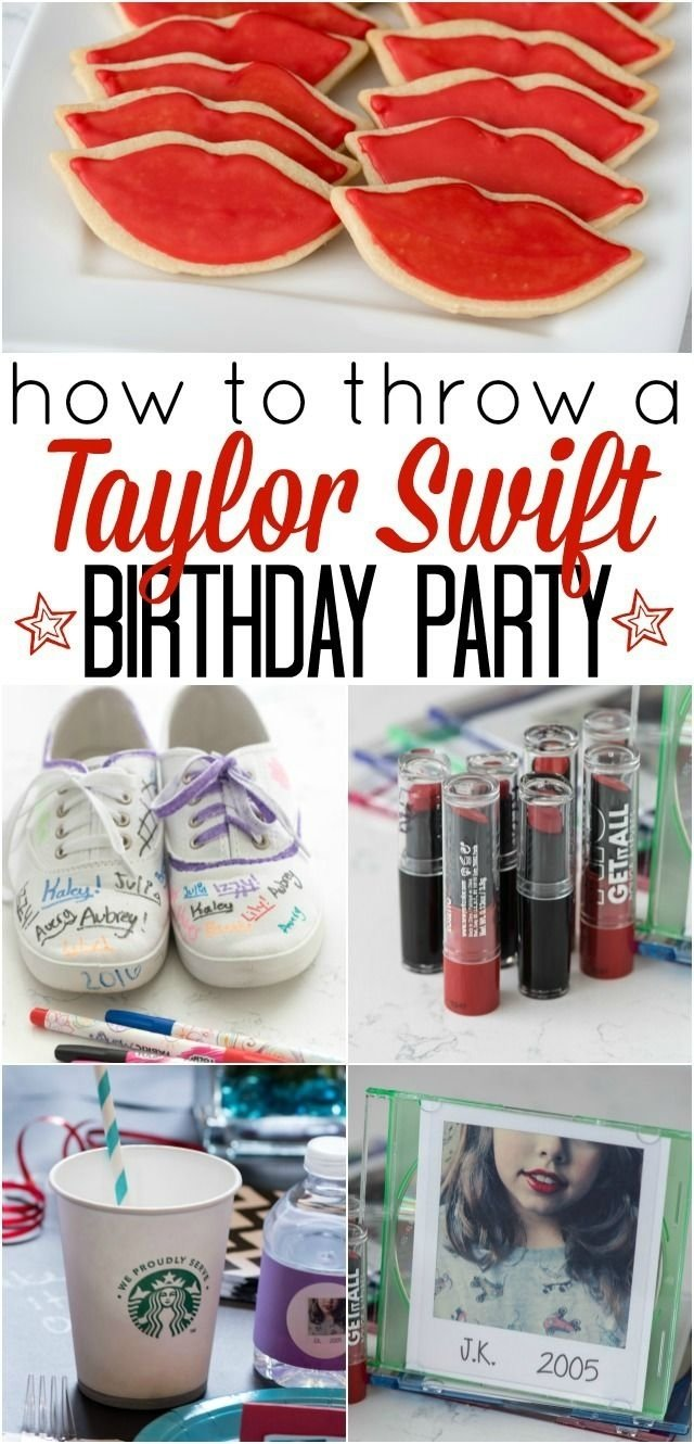 10 Most Popular Taylor Swift Birthday Party Ideas how to throw a taylor swift birthday party these diy party ideas 2020