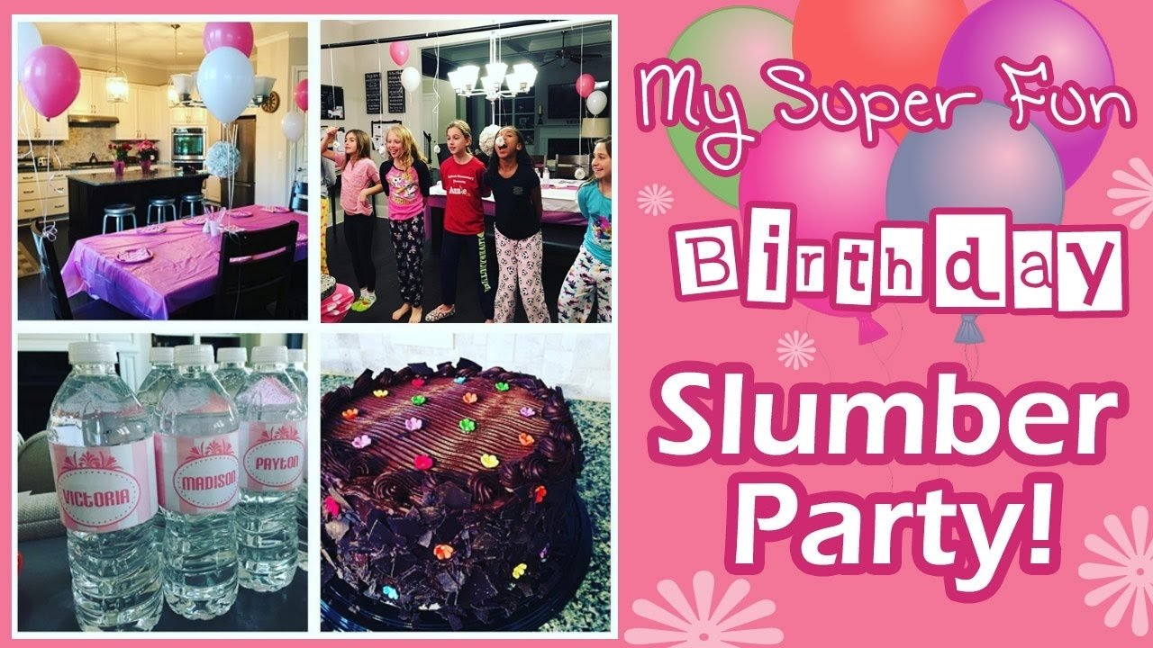 10 Beautiful Birthday Ideas For 12 Year Olds how to throw the best 11 year old tween slumber sleepover birthday 1