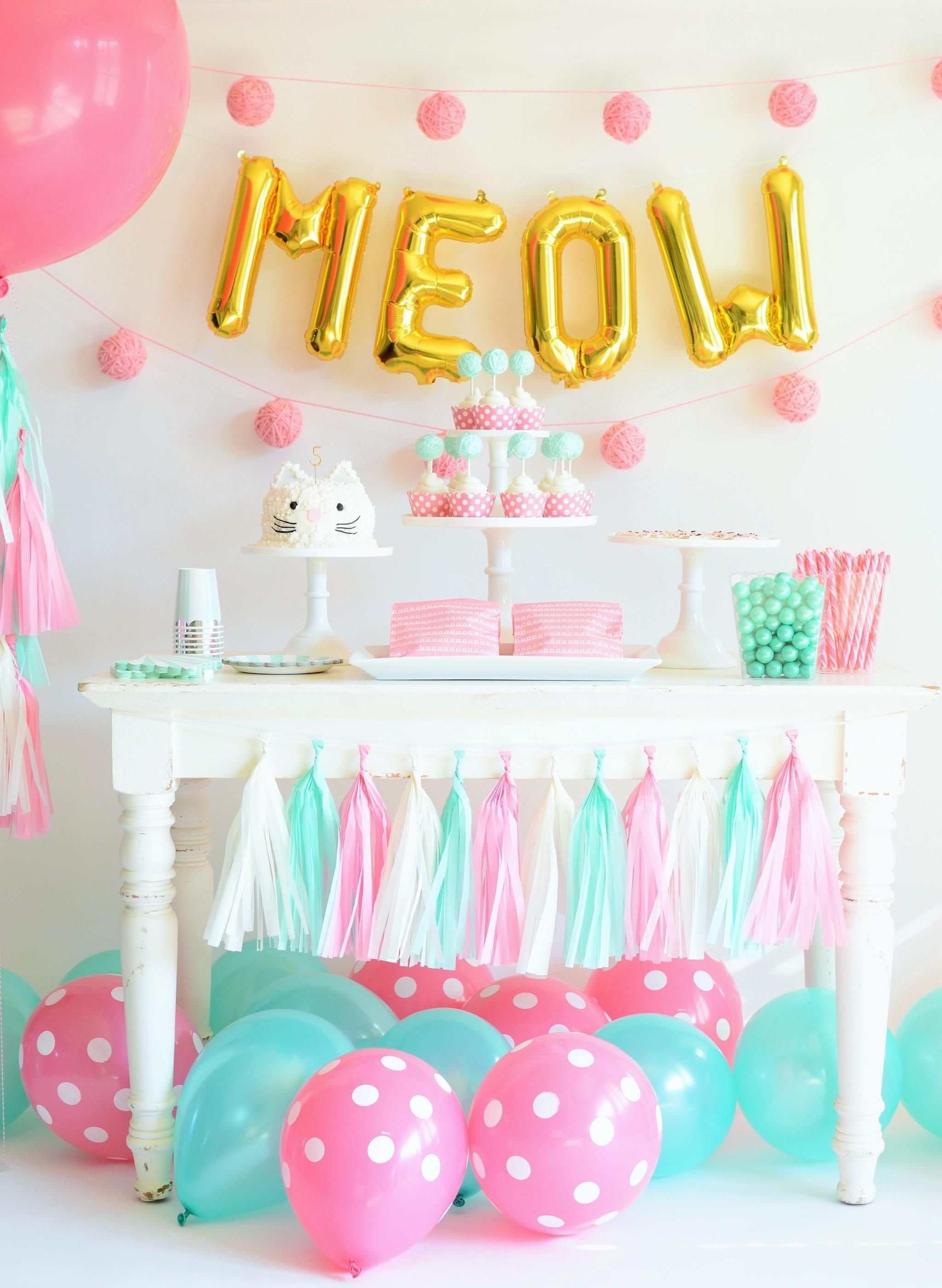 10 Spectacular Toddler Girl Birthday Party Ideas how to throw the purr fect kitten party birthday party themes 1 2020