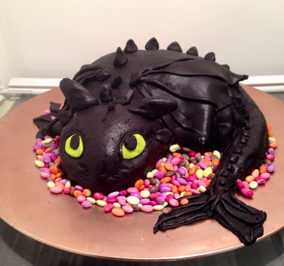 10 Most Recommended How To Train Your Dragon Cake Ideas how to train your dragon cake toothless cake for my sons how to 2020