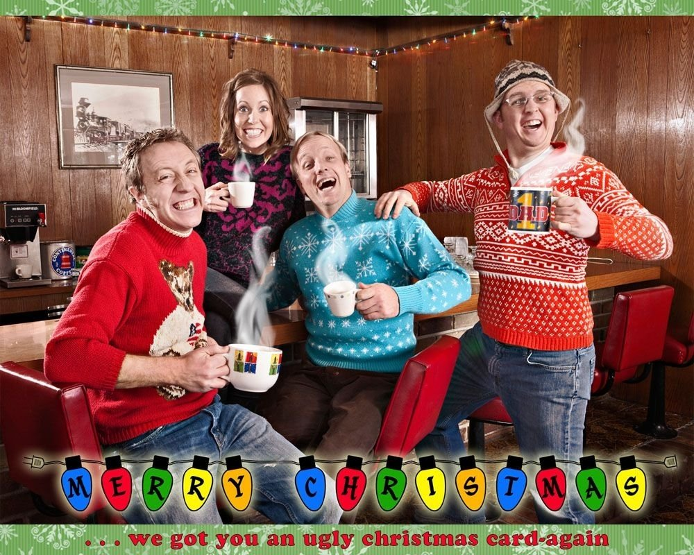10 Amazing Funny Family Christmas Photo Ideas how to unplug over the holidays live playfully christmas card 6
