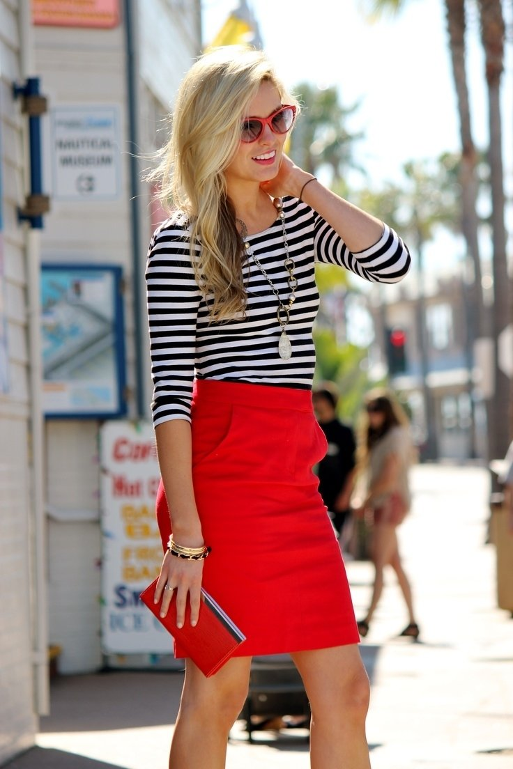 10 Perfect Red Pencil Skirt Outfit Ideas how to wear a red skirt 2018 fashiongum 2020