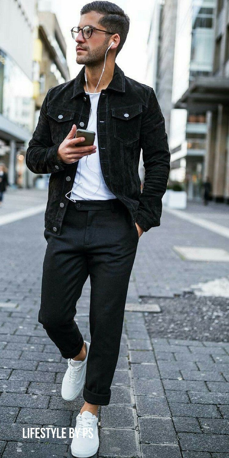 how to wear black and white outfit on the street (10 ideas) | men's