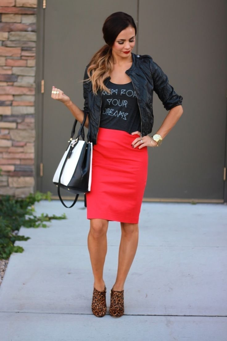 10 Perfect Red Pencil Skirt Outfit Ideas how to wear pencil skirts combination ideas 2018 fashiongum 2020