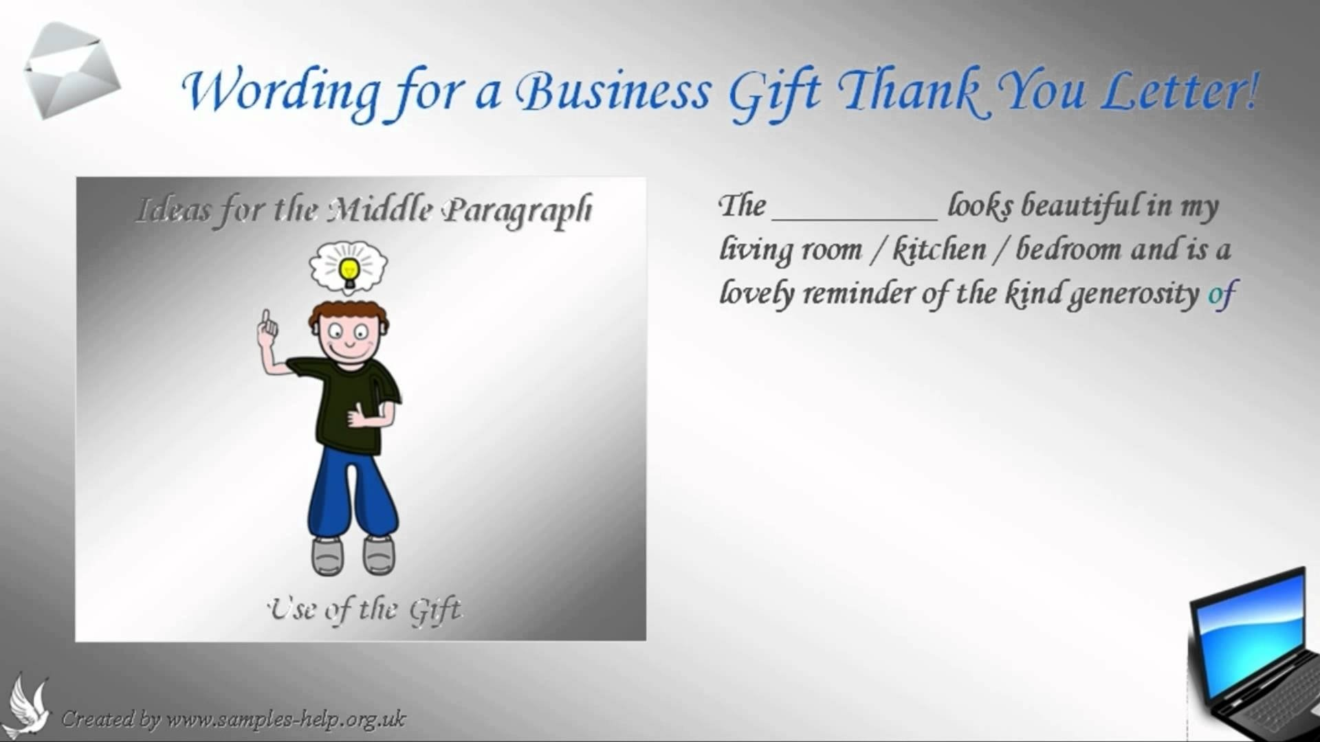 10 Wonderful Business Thank You Gift Ideas how to write a business gift thank you letter youtube 2020