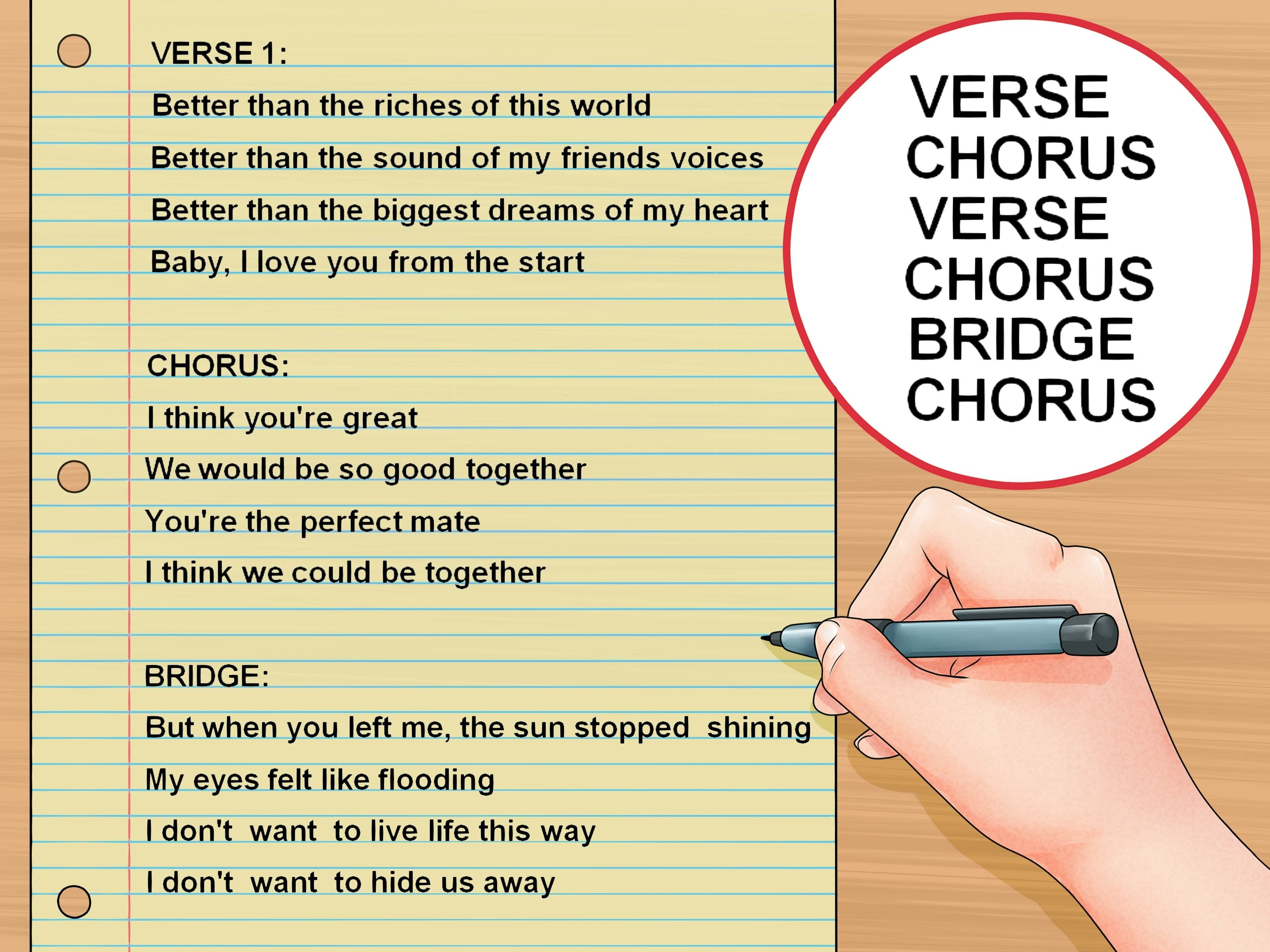 10 Awesome Ideas To Write A Song how to write a good love song for your crush 15 steps 2020