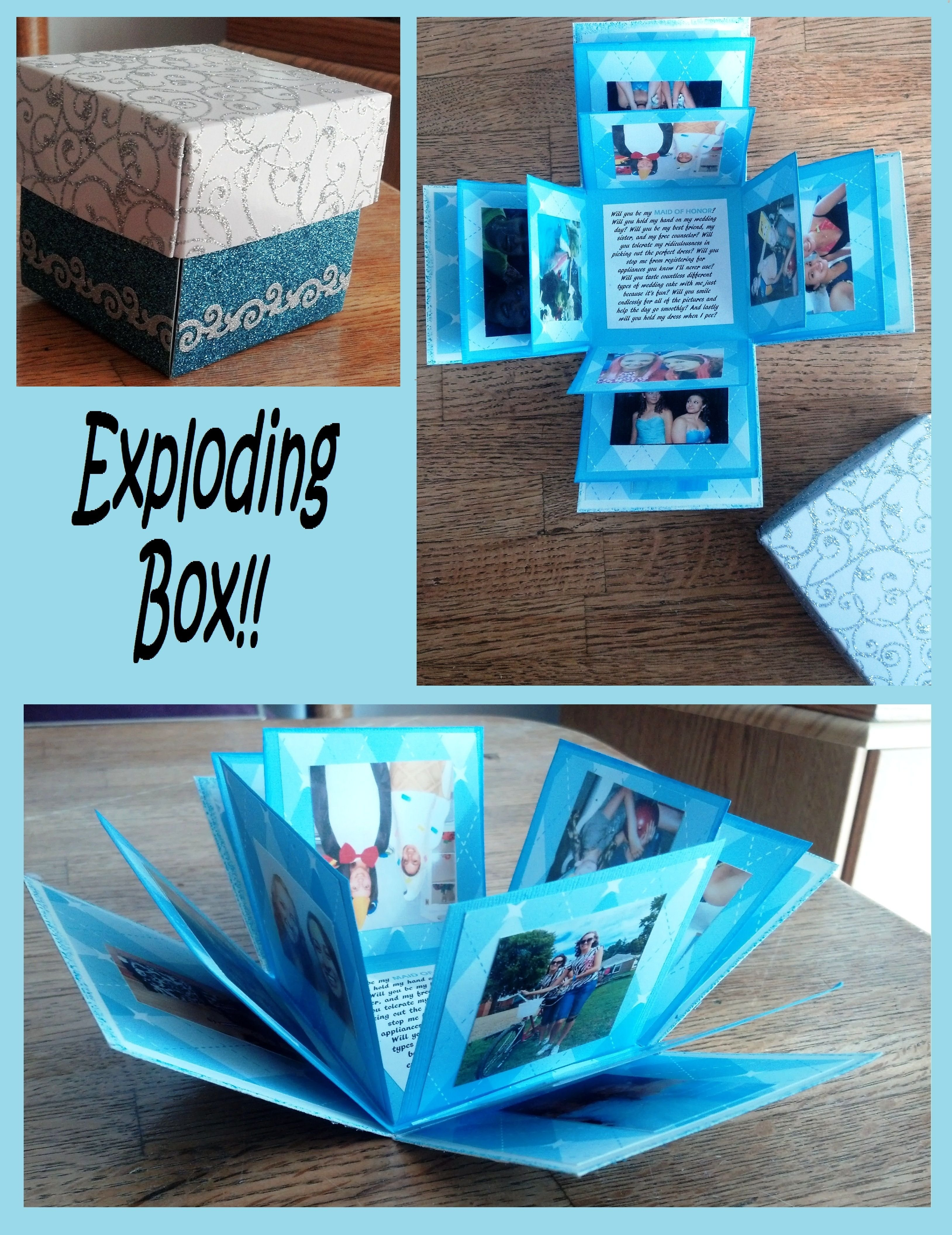 10 Best Creative Christmas Ideas For Boyfriend http www echopaul lovely exploding photo box e299a5 made one of 2020
