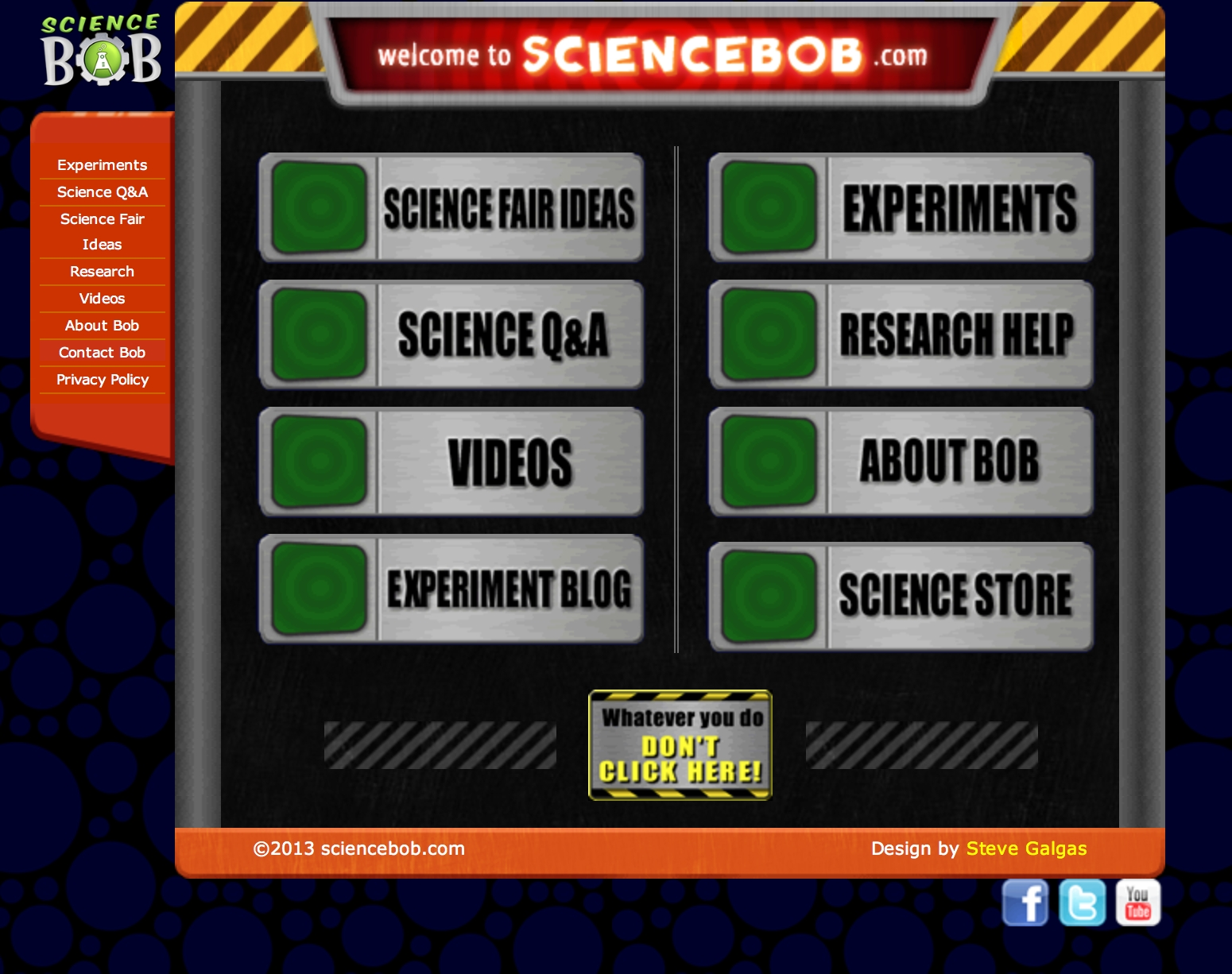 http://www.sciencebob/index.php science bob: science fair ideas