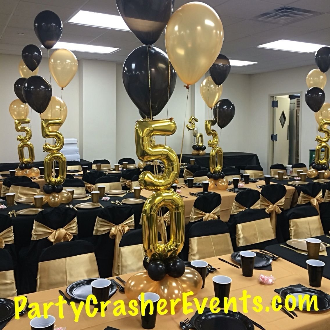 10 Fabulous 50th Birthday Party Centerpiece Ideas 2019