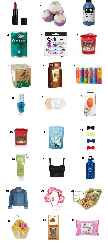 10 Fantastic Ideas For Advent Calendar Fillers huge list of last minute stocking fillers secret santa advent 1