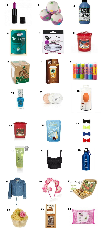 10 Trendy Ideas For Advent Calendar Gifts huge list of last minute stocking fillers secret santa advent
