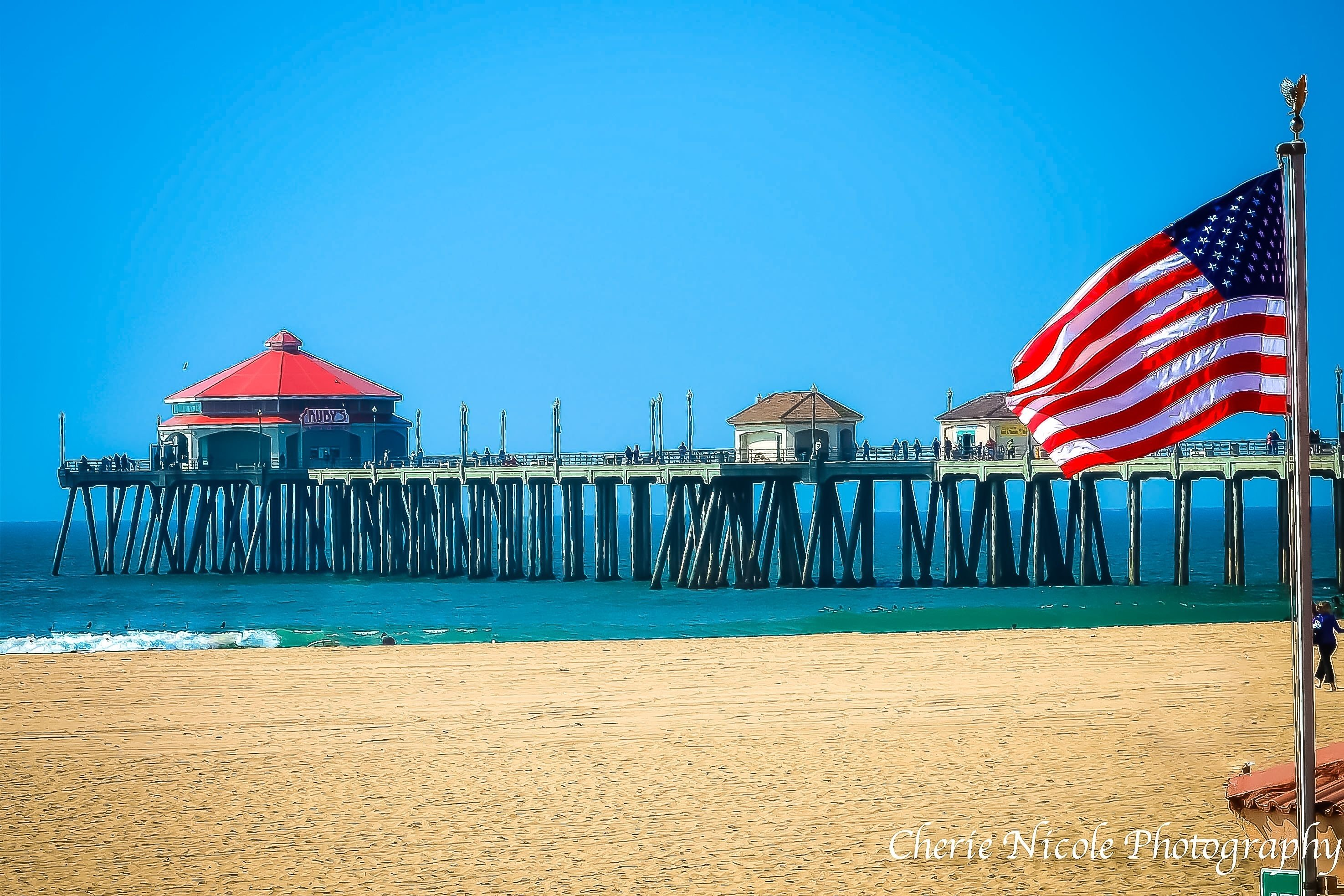 huntington beach pier, fourth of july, 4th of july, america | cherie