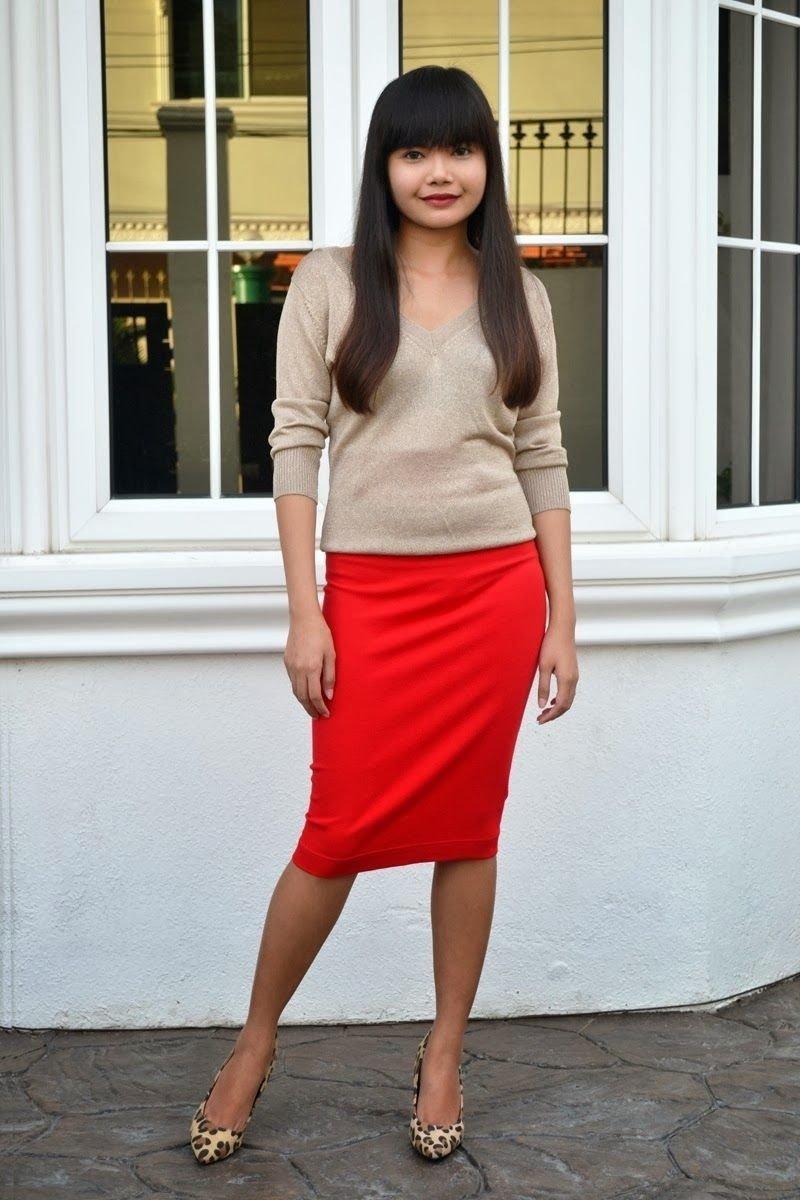 10 Perfect Red Pencil Skirt Outfit Ideas i am alexae29482cebu fashion travel and style tipsalexa martin 2020