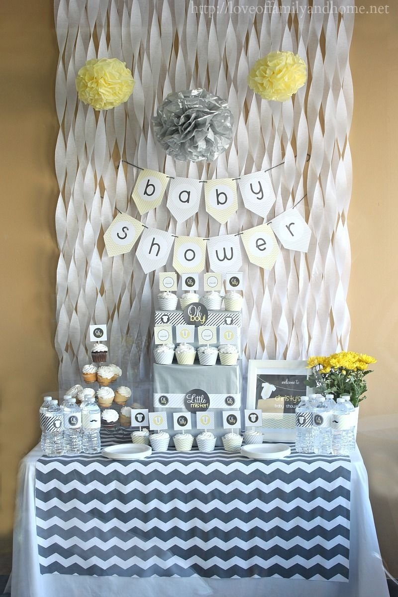 10 Trendy Yellow And Gray Baby Shower Ideas i just like the way this looks could change the colors to make it 2020