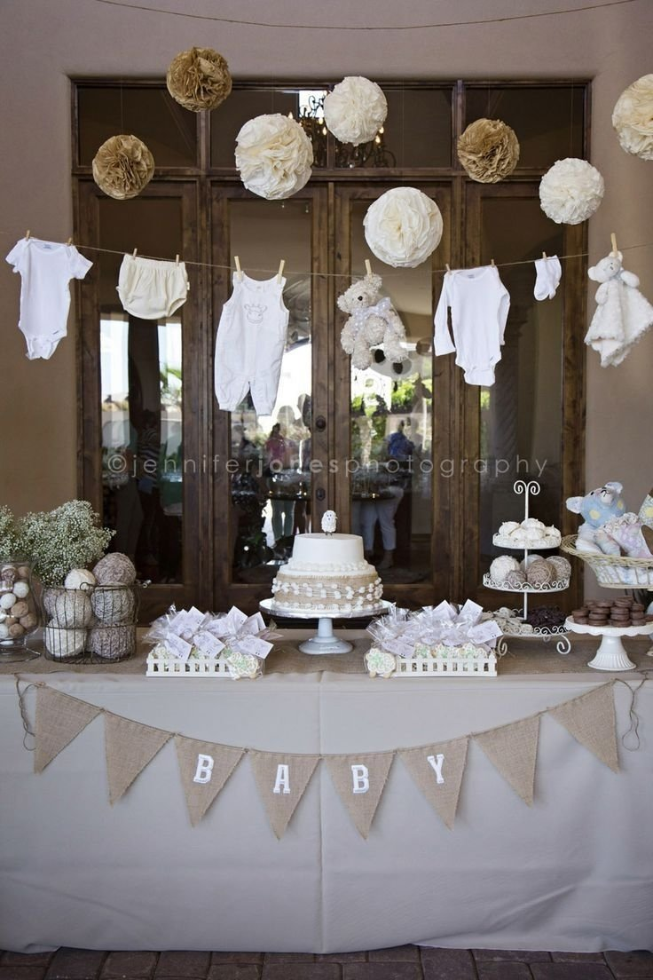 10 Best Vintage Baby Shower Decoration Ideas i like how classic it looks i dont know about the items that are