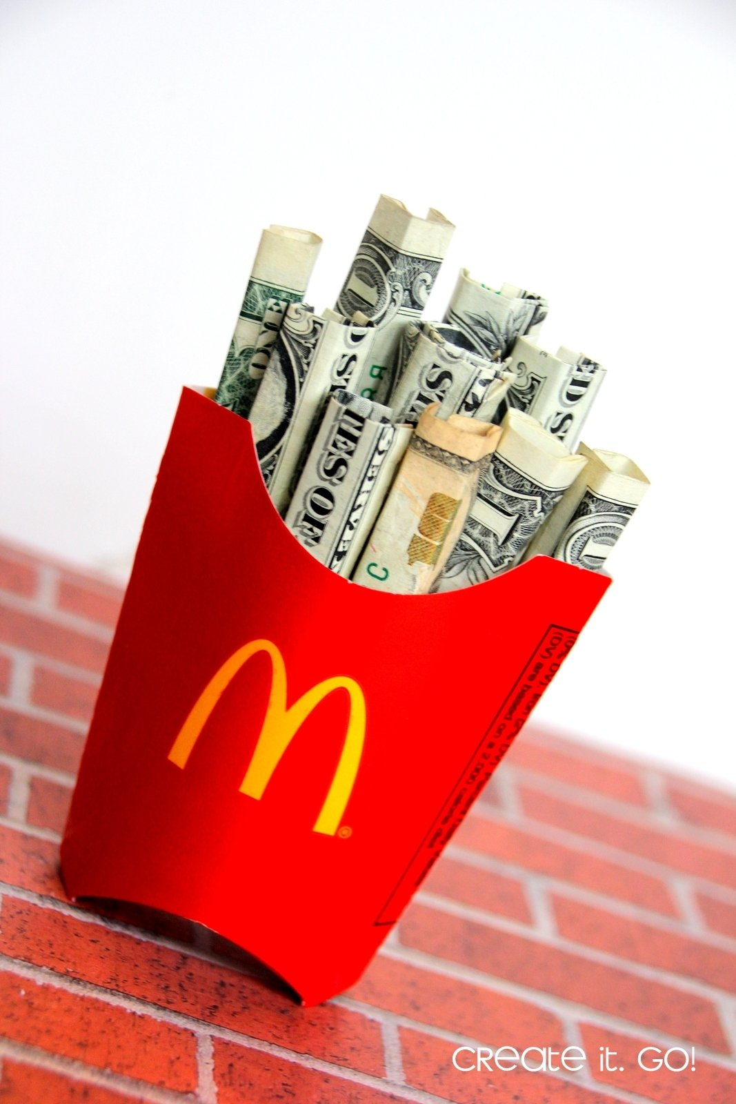 i love adding a thing of real fries in the bag too or a gift card