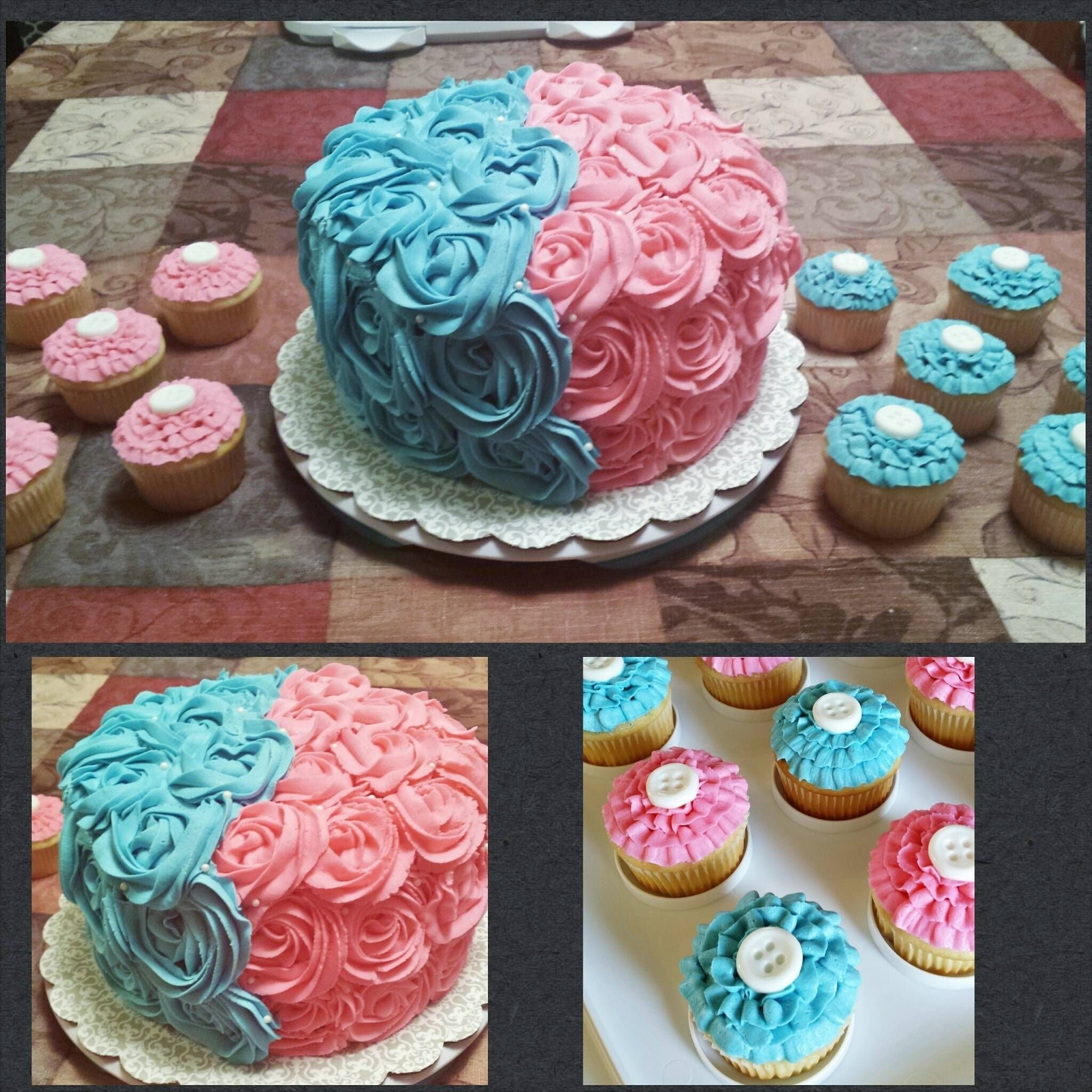 10 Stylish Gender Reveal Party Cake Ideas i made the cake and cupcakes for a baby gender reveal party the 2020