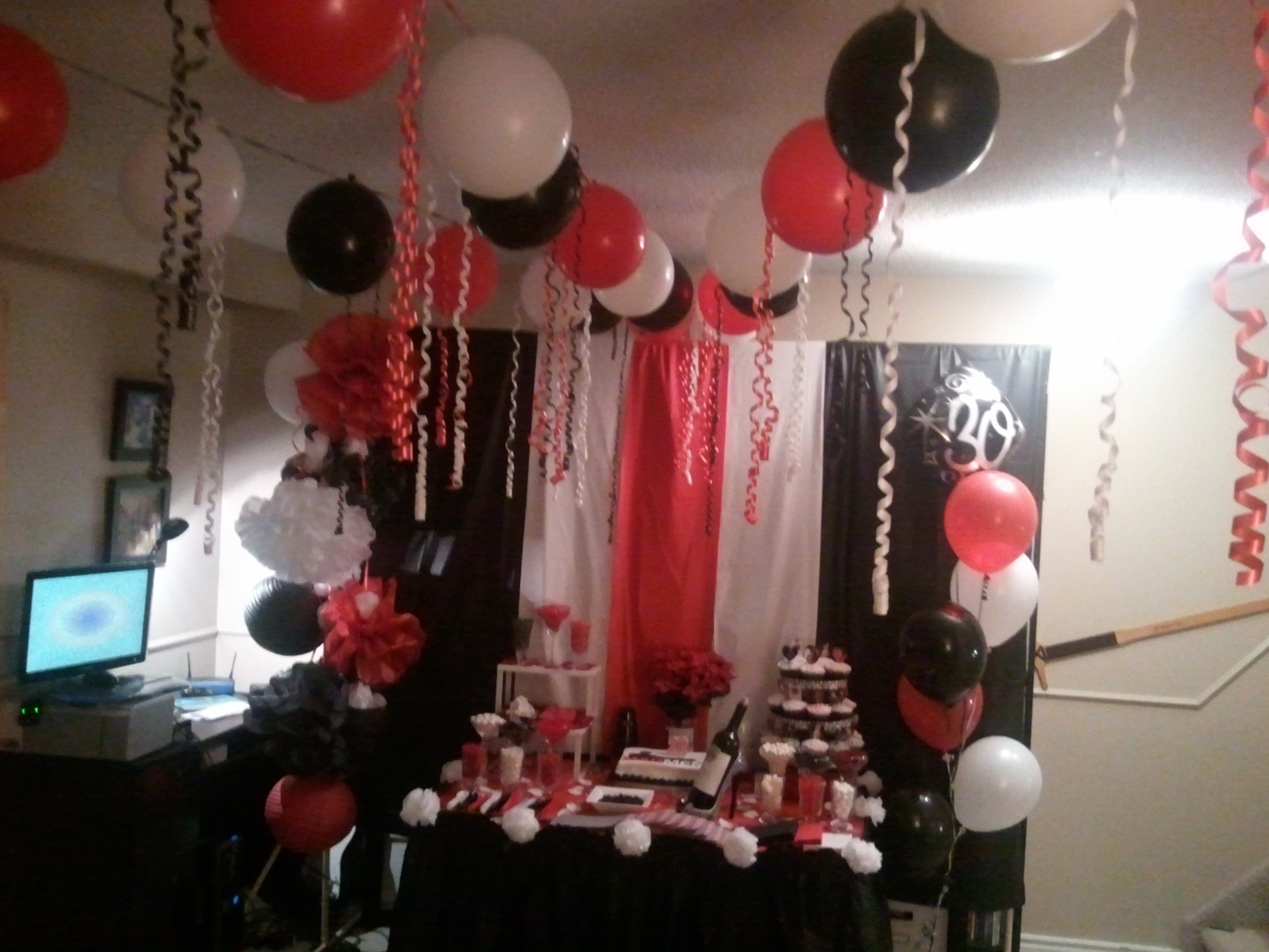 10 Spectacular Red And White Party Ideas i made this mad men themed 30th bday party candy bar back drop 2021