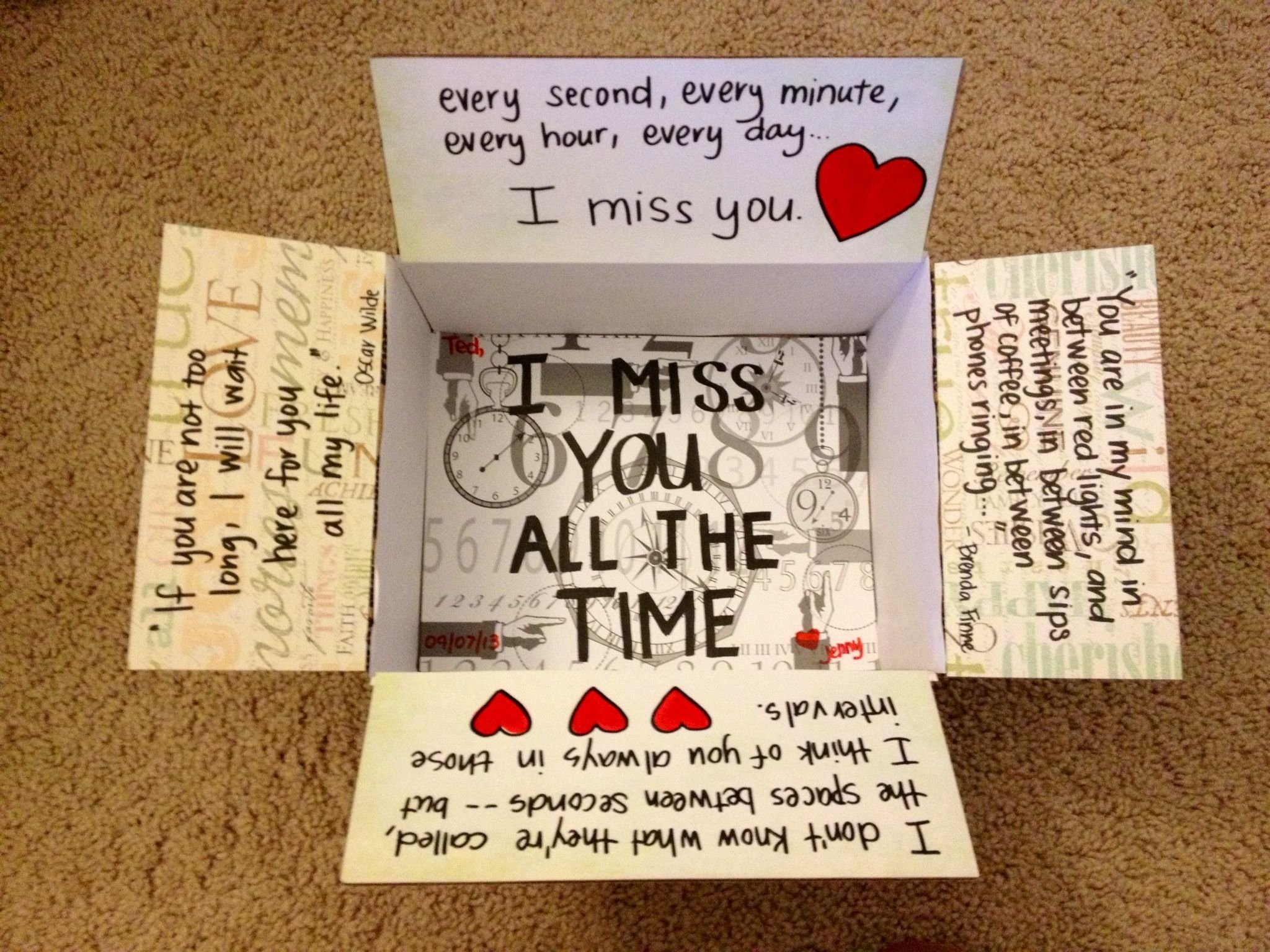 10 Cute Gift Ideas For Military Men i miss you all the time care package for garrett care package 1 2020