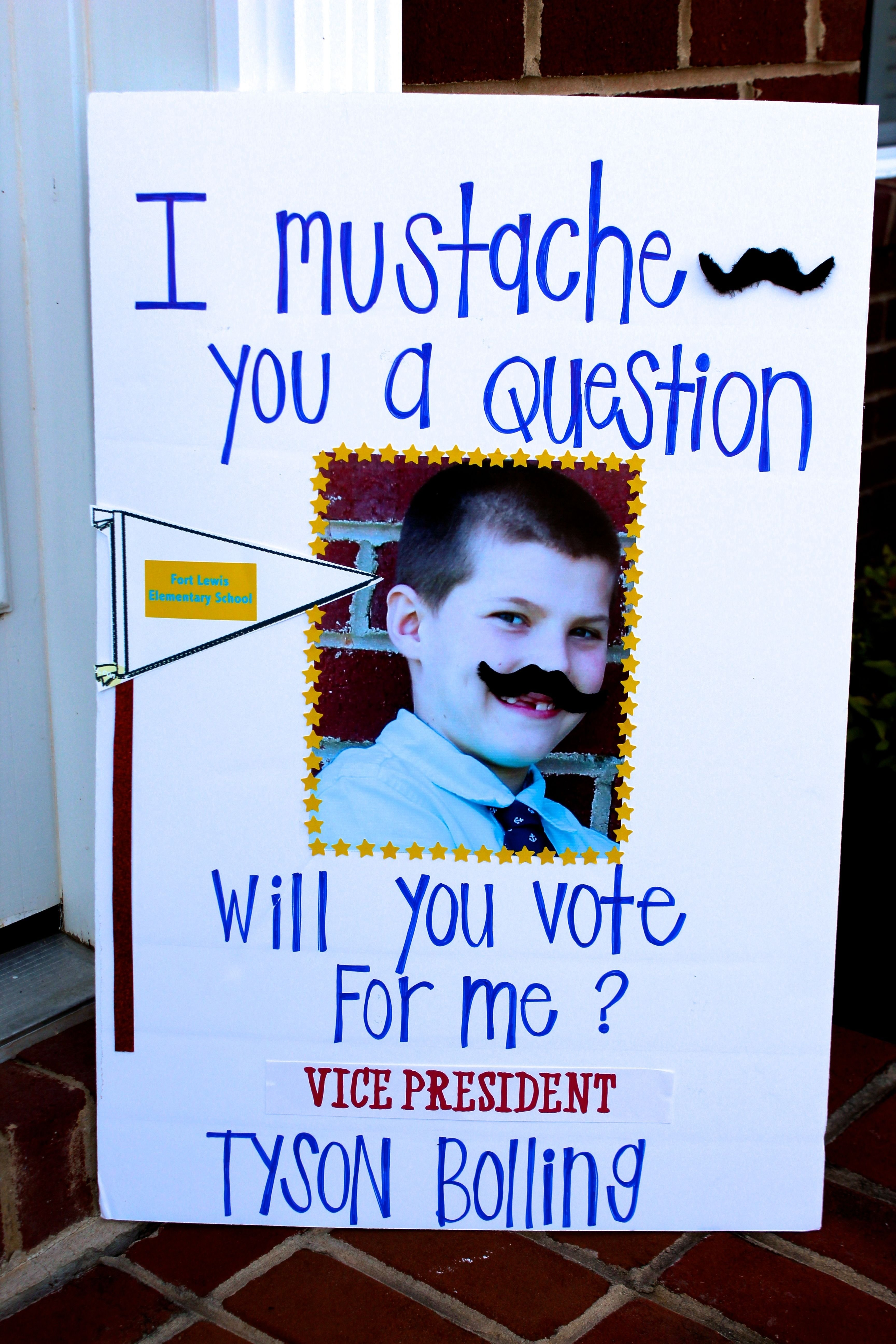 10 Attractive 5Th Grade Student Council Ideas i mustache you a question will you vote for ty student council 2 2020
