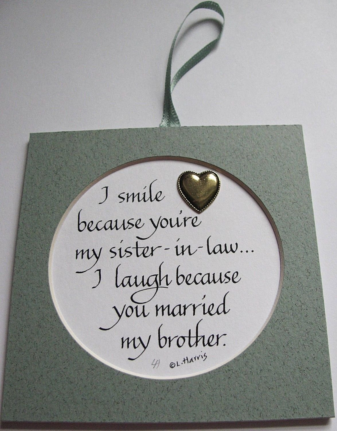 10 Most Popular Gift Ideas For Sister From Brother i smile because youre my sister in law 8 00 via etsy funny 4