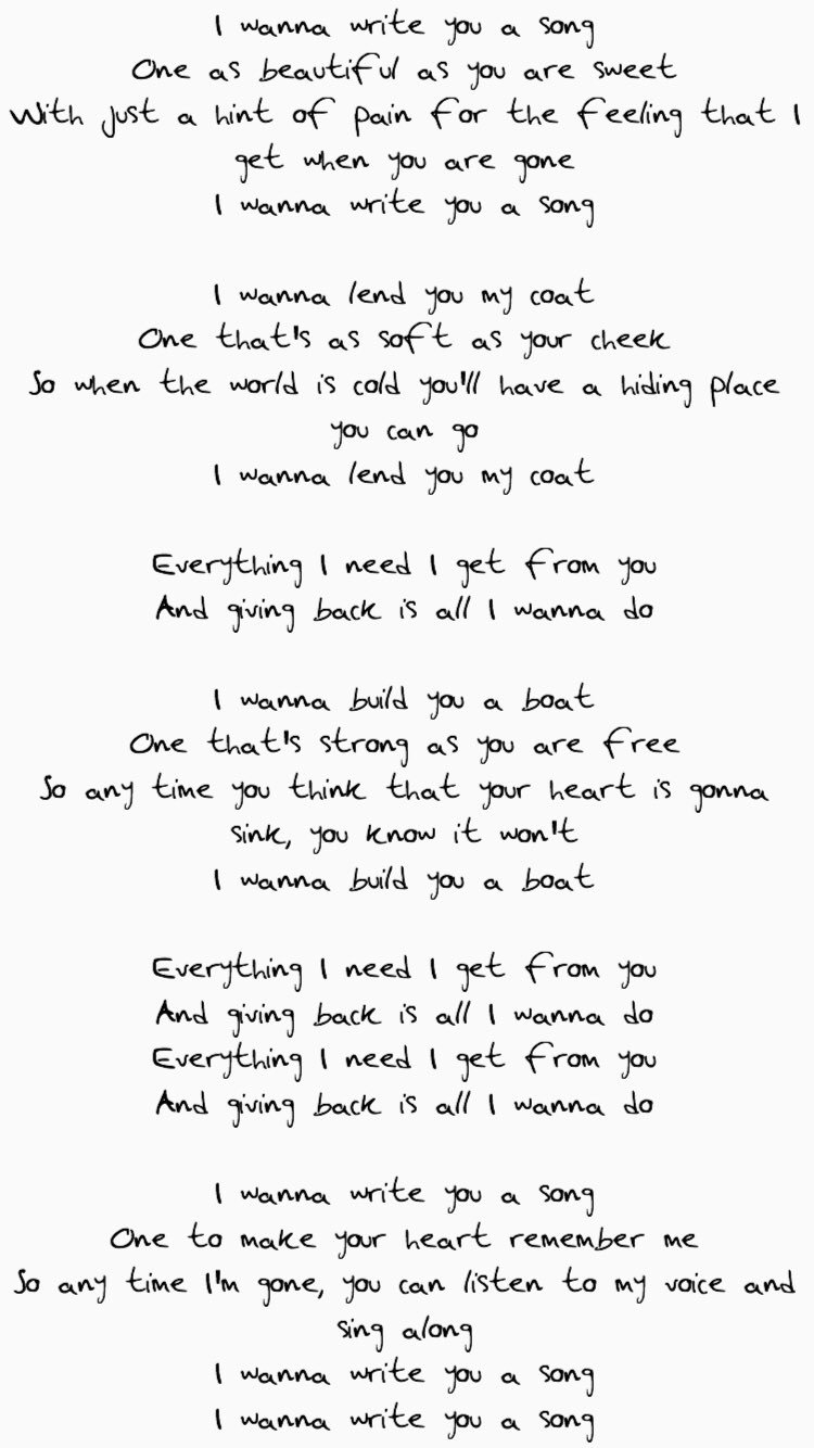 10 Awesome Ideas To Write A Song i want to write you a song harry styles hand writing lyrics 2021